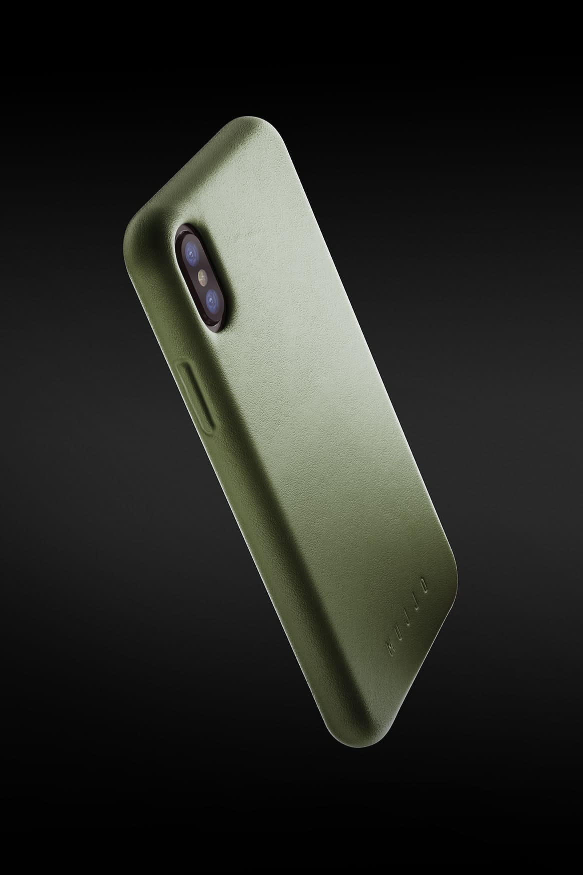 Full leather case for iPhone X Olive 05