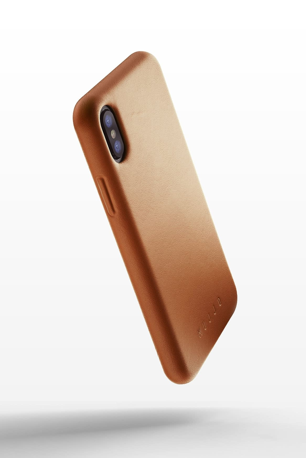 Full leather case for iPhone X Tan 01