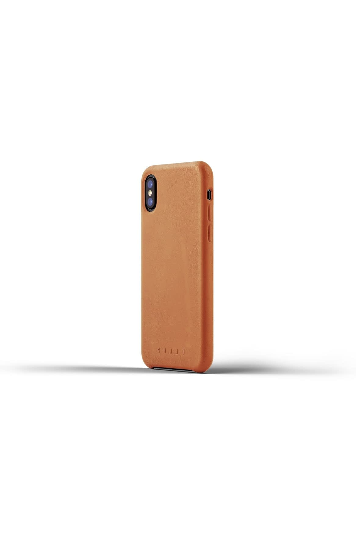 Full leather case for iPhone X Tan Packshot 01