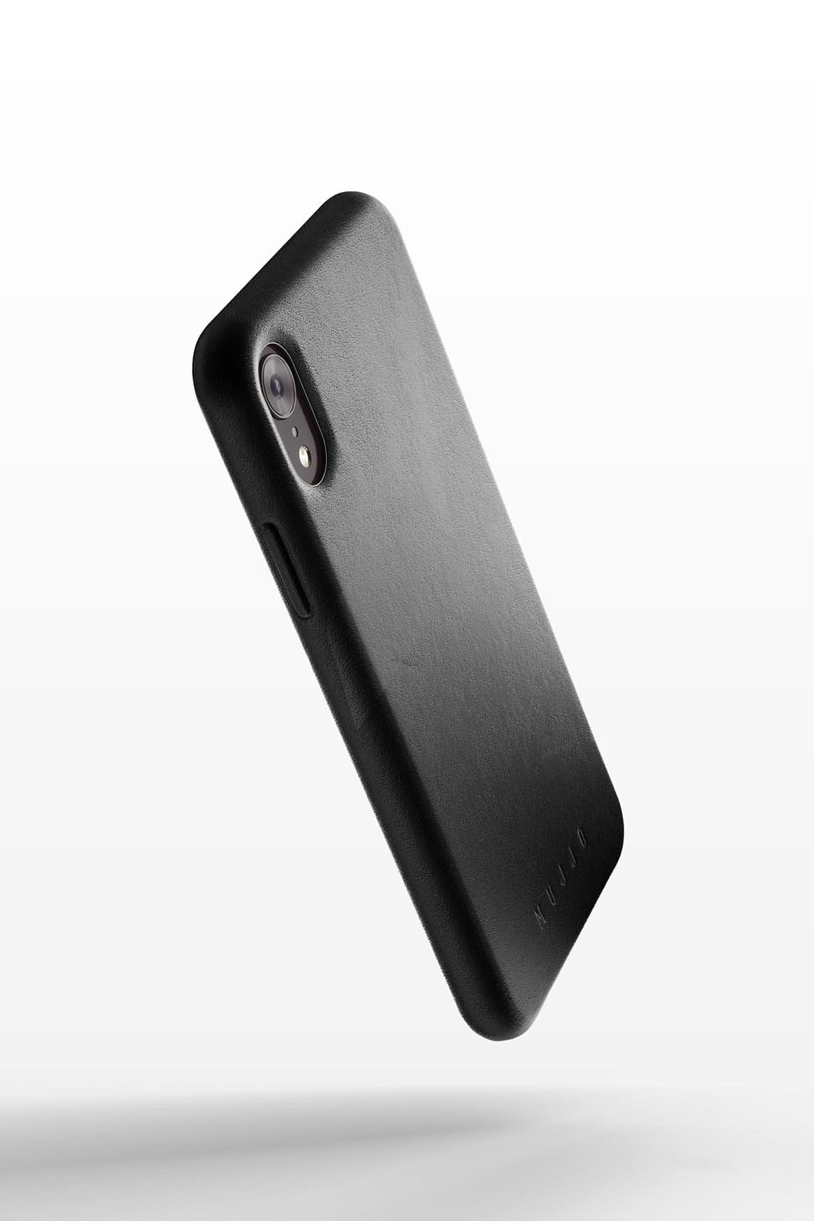 Full leather case for iPhone Xr Black 01