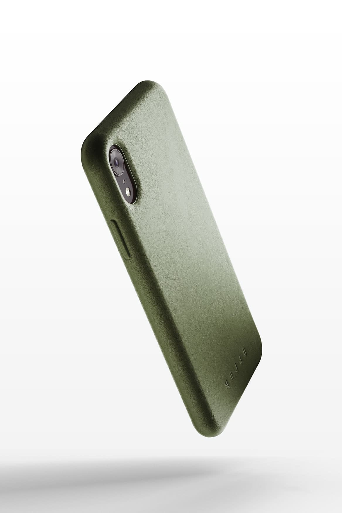 Full leather case for iPhone Xr Olive 01