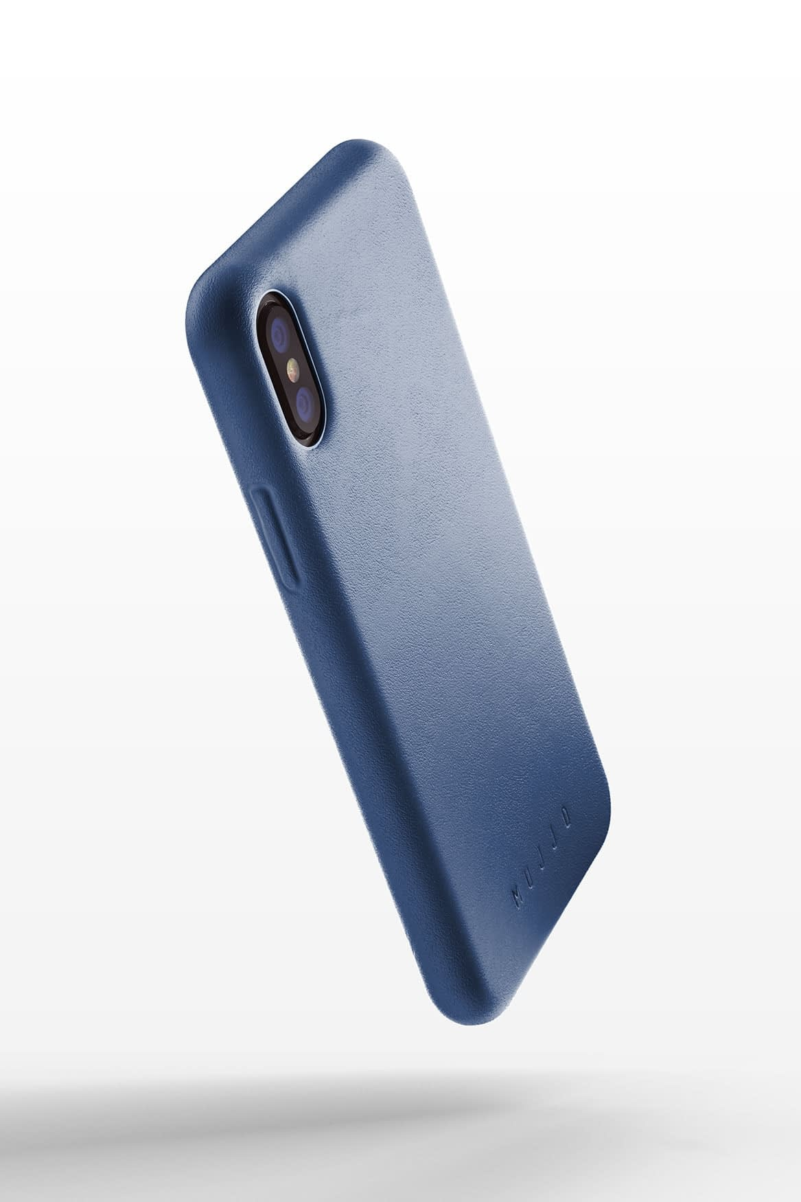 Full leather case for iPhone Xs Blue 01