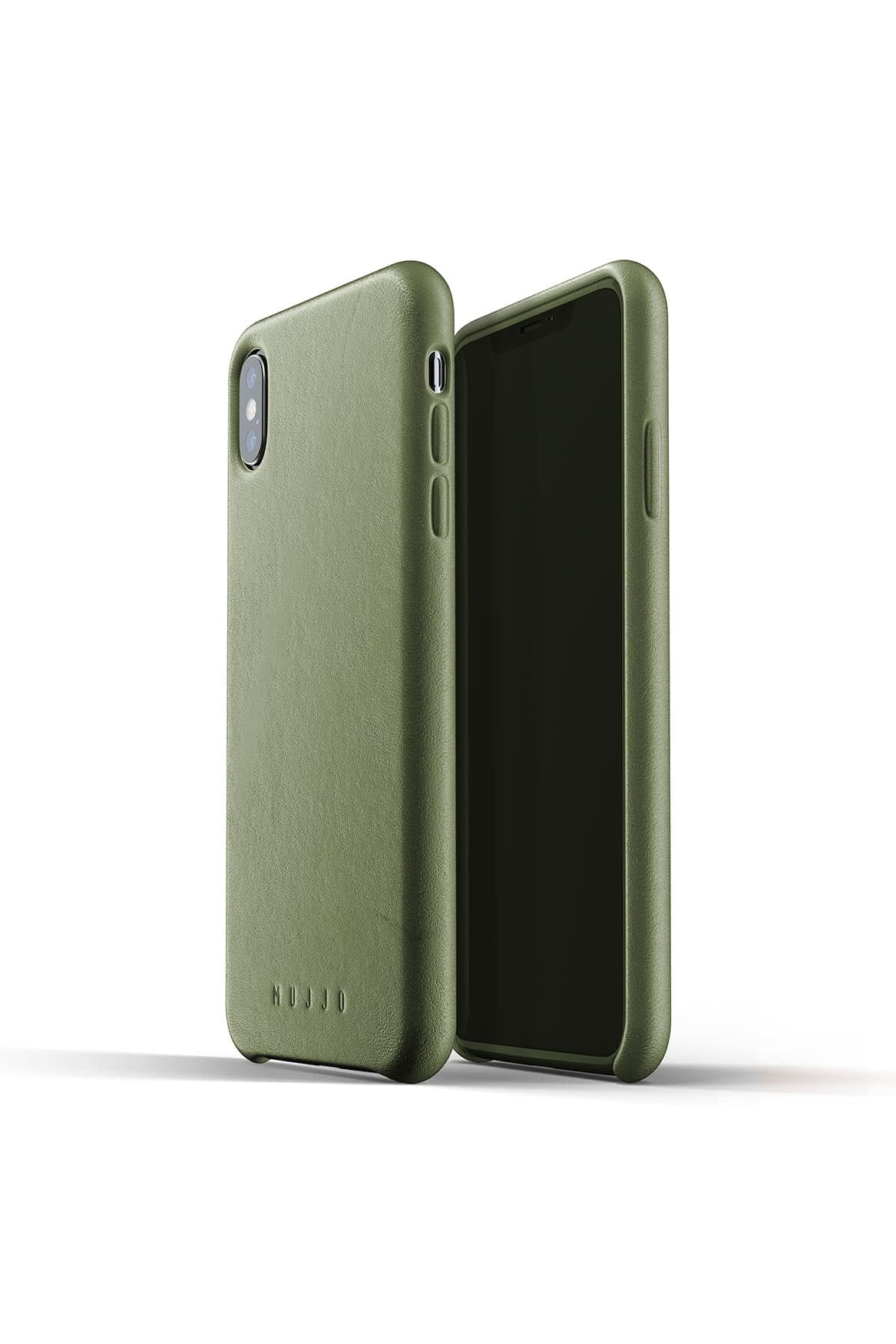 Full leather case for iPhone Xs Max Olive Packshot 01