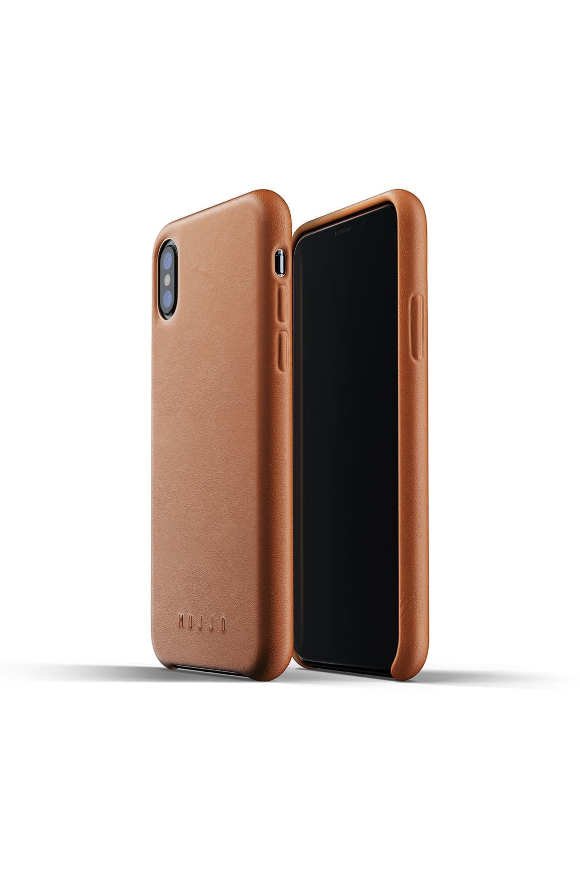 Full leather case for iPhone Xs Tan Packshot 01