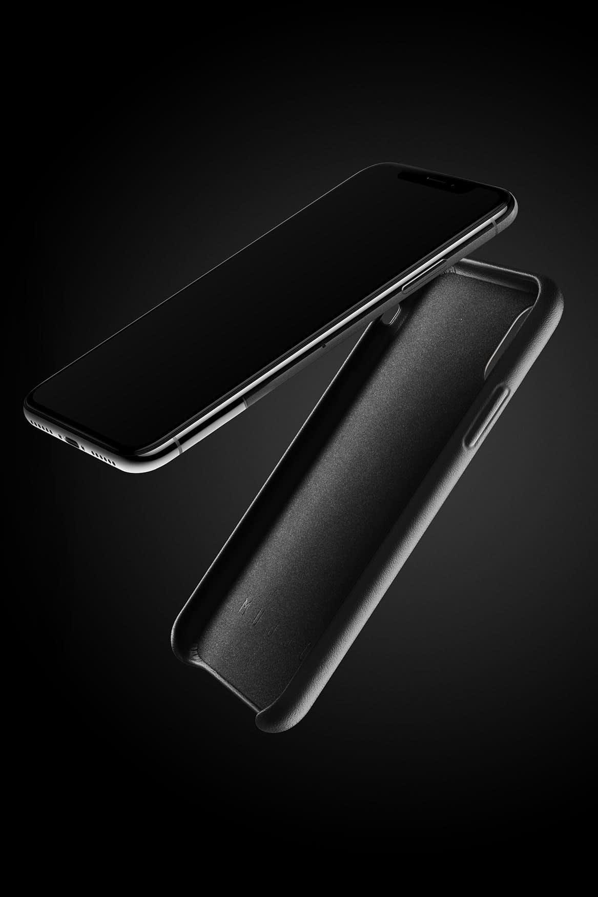 Full leather wallet case for iPhone X Black 07