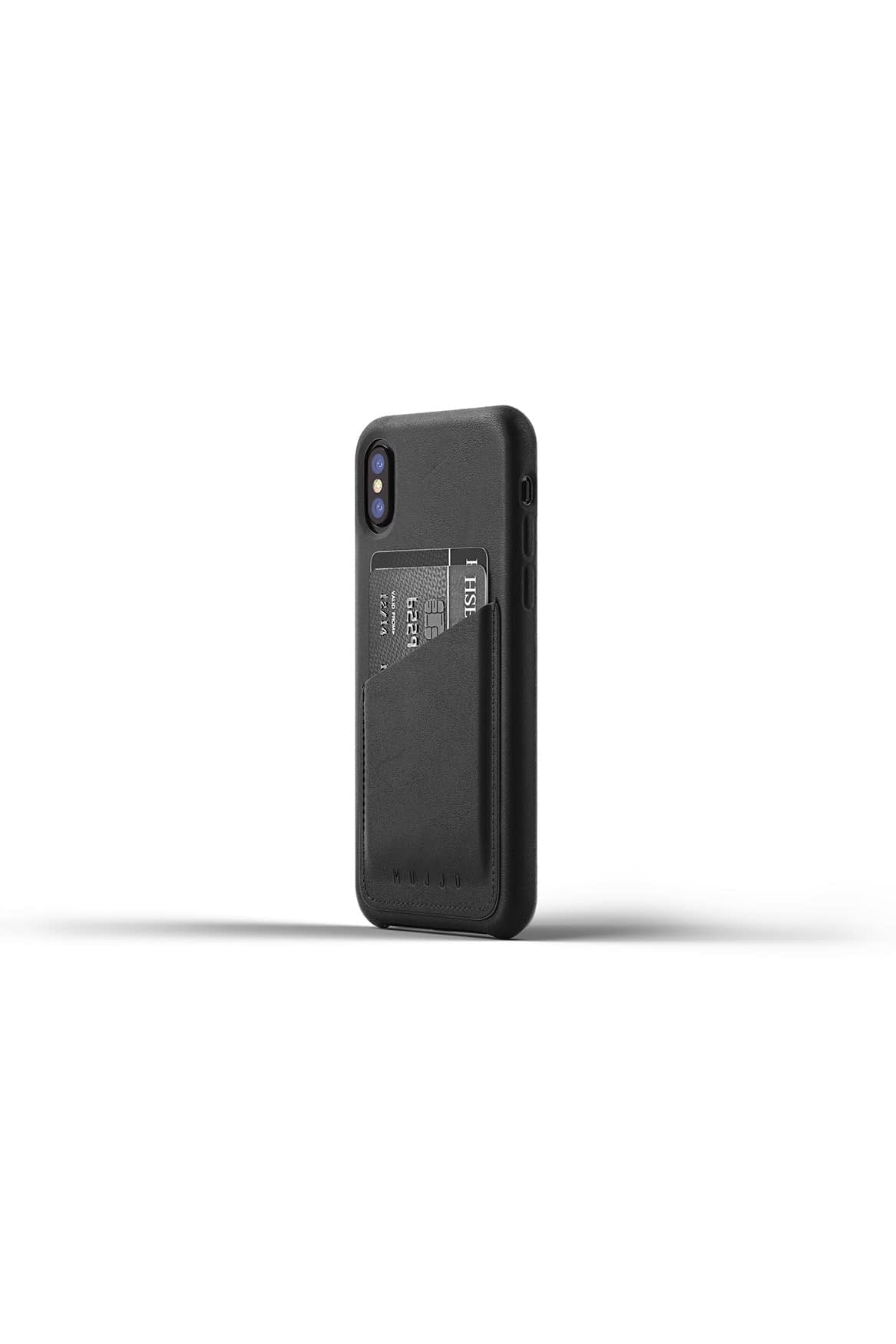 Full leather wallet case for iPhone X Black Studio 01