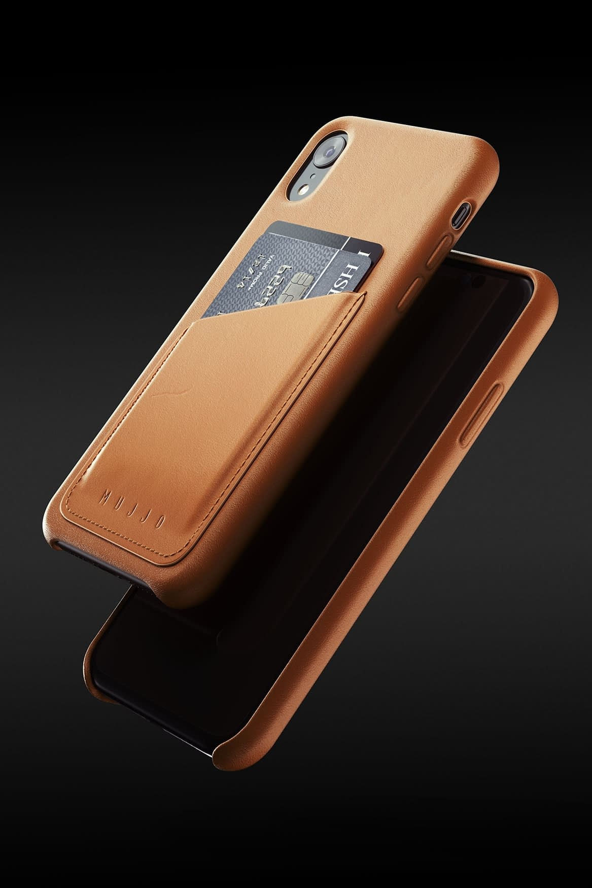 Full leather wallet case for iPhone Xr Tan 08