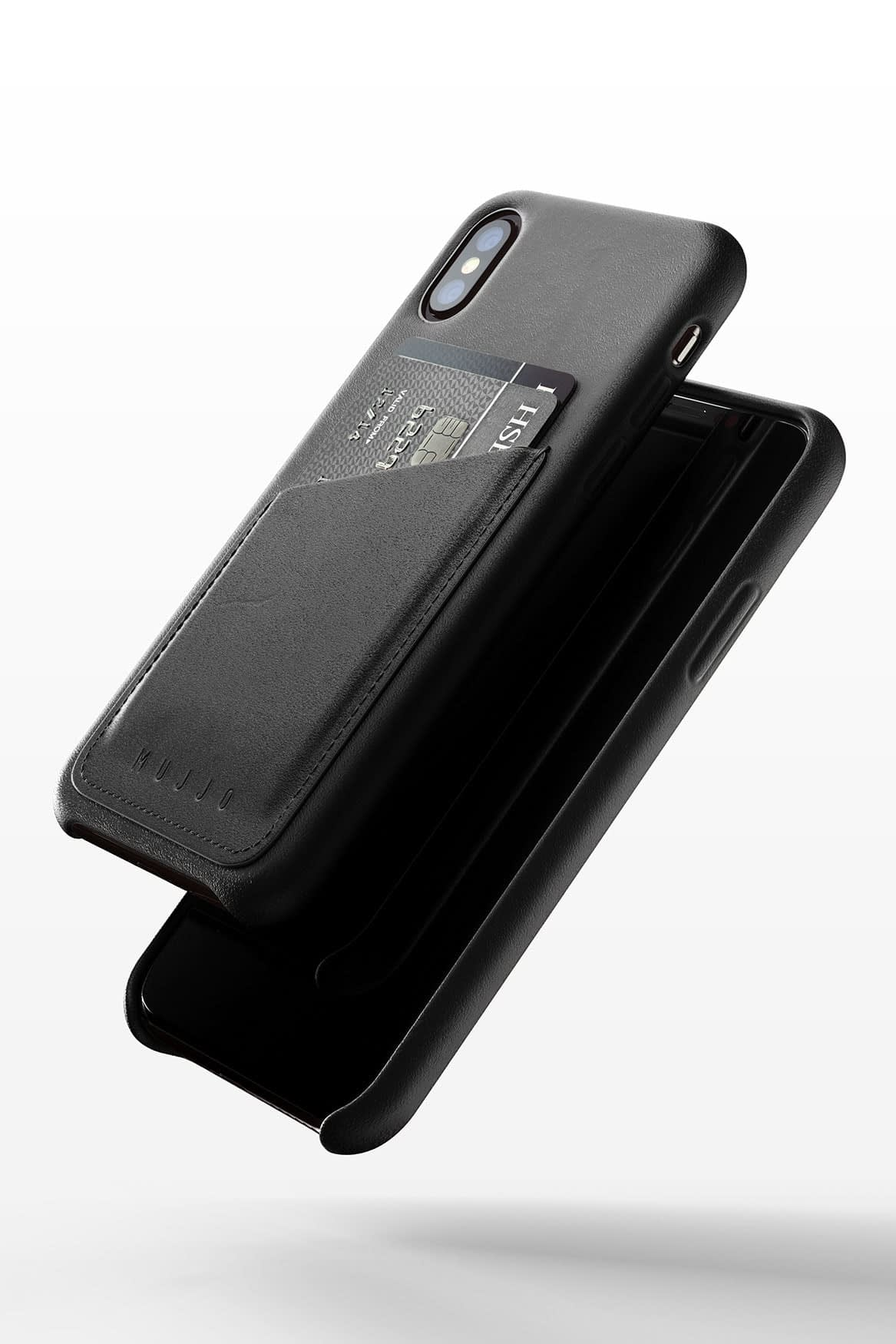 Full leather wallet case for iPhone Xs Black 03