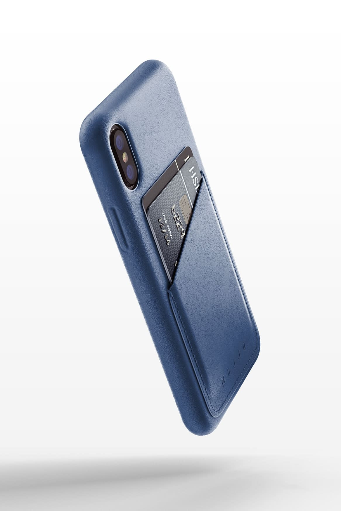 Full leather wallet case for iPhone Xs Blue 04