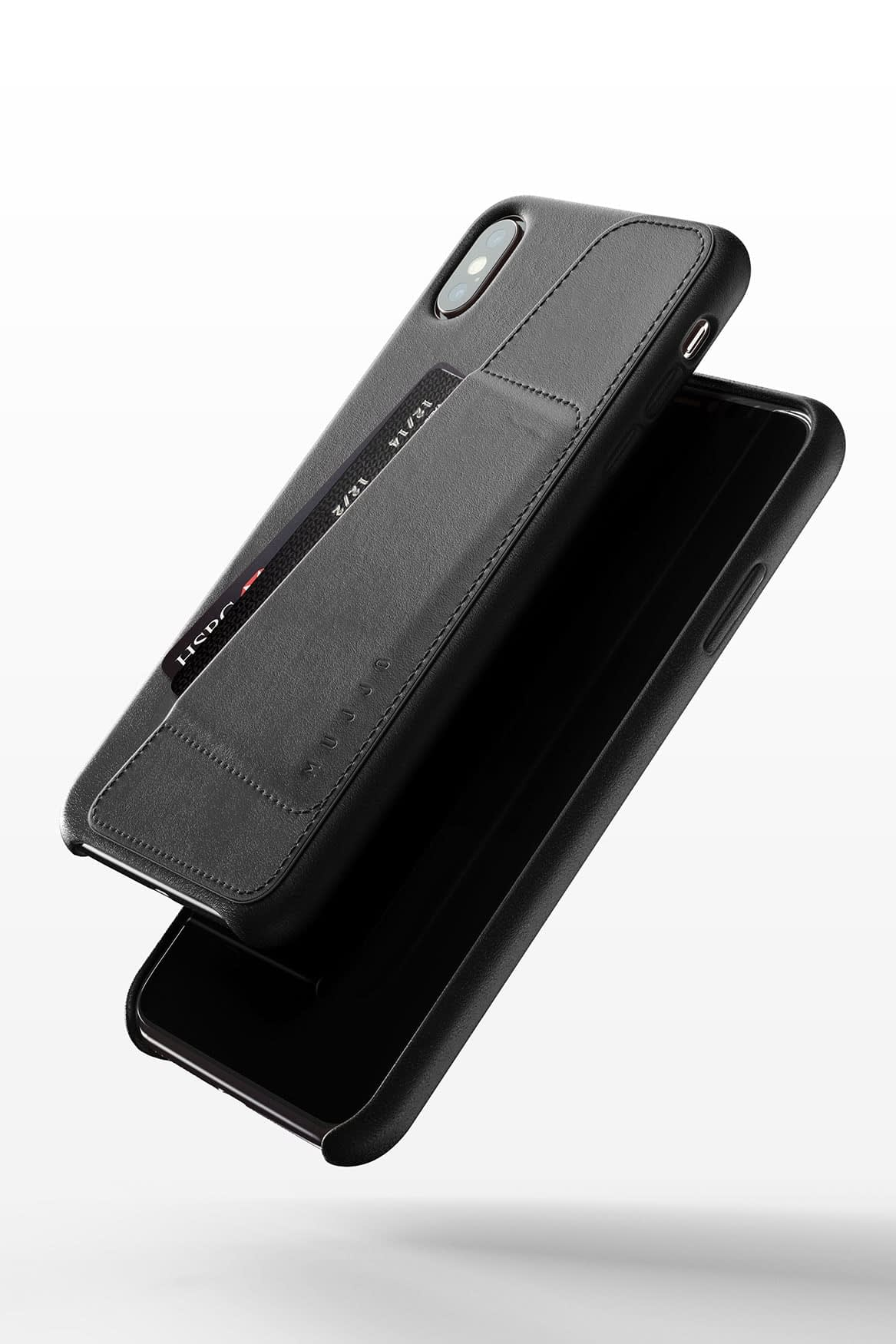 Full leather wallet case for iPhone Xs Max Black 03