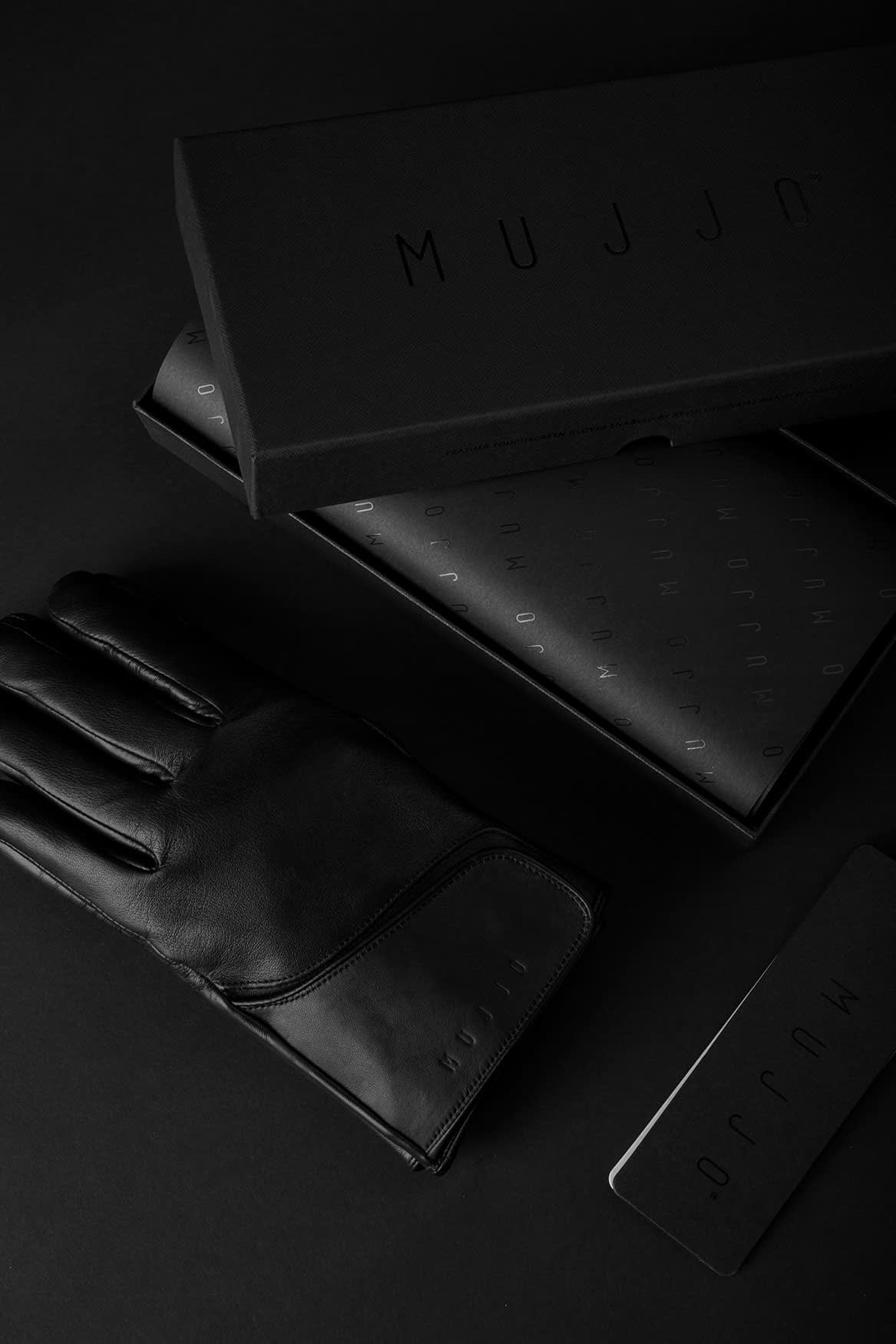 Leather Touchscreen Gloves Giftbox 002