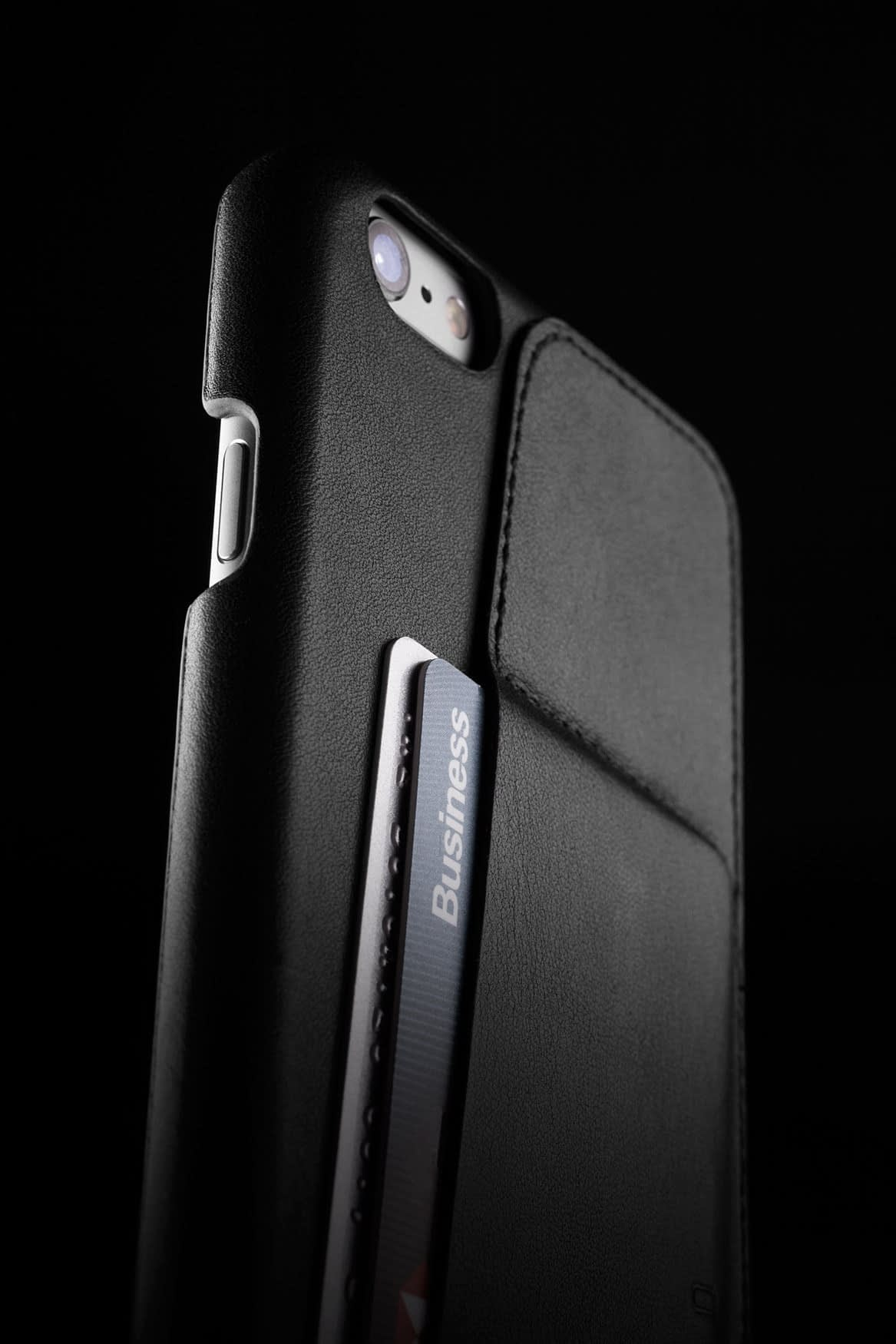 Leather Wallet Case 80° for iPhone 6 Plus Black Lifestyle 0012