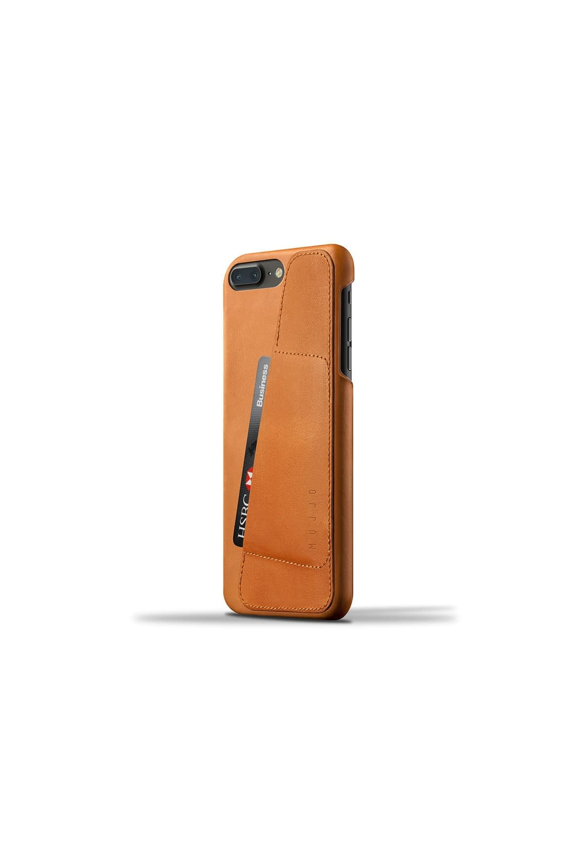 Leather Wallet Case for iPhone 7 Plus Tan Studio 003