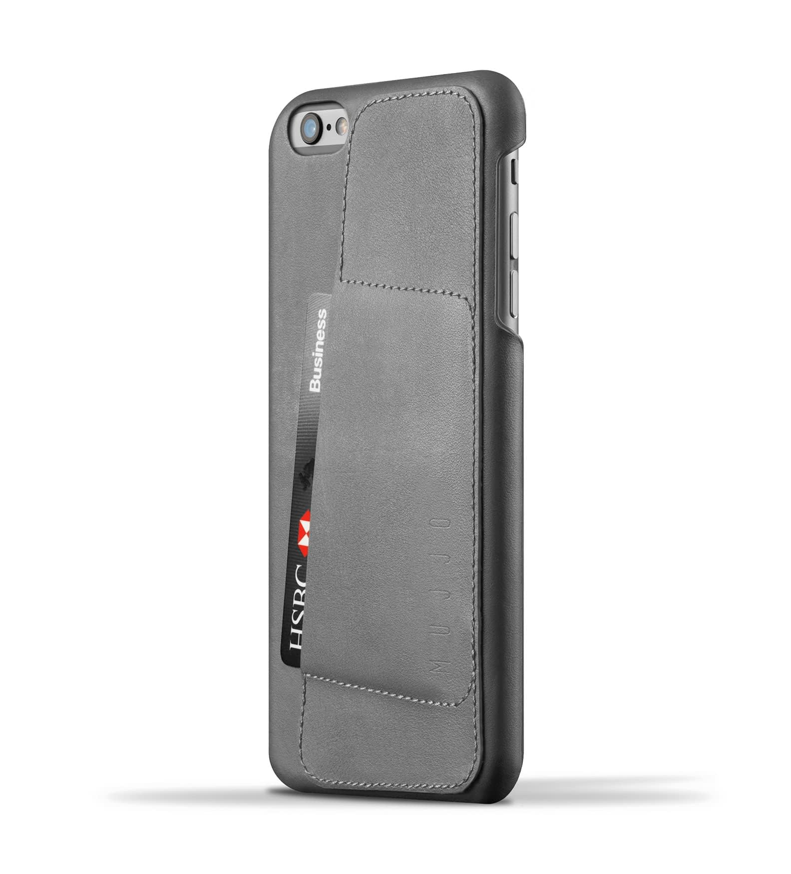 leather wallet case 80 for iphone 6s plus gray