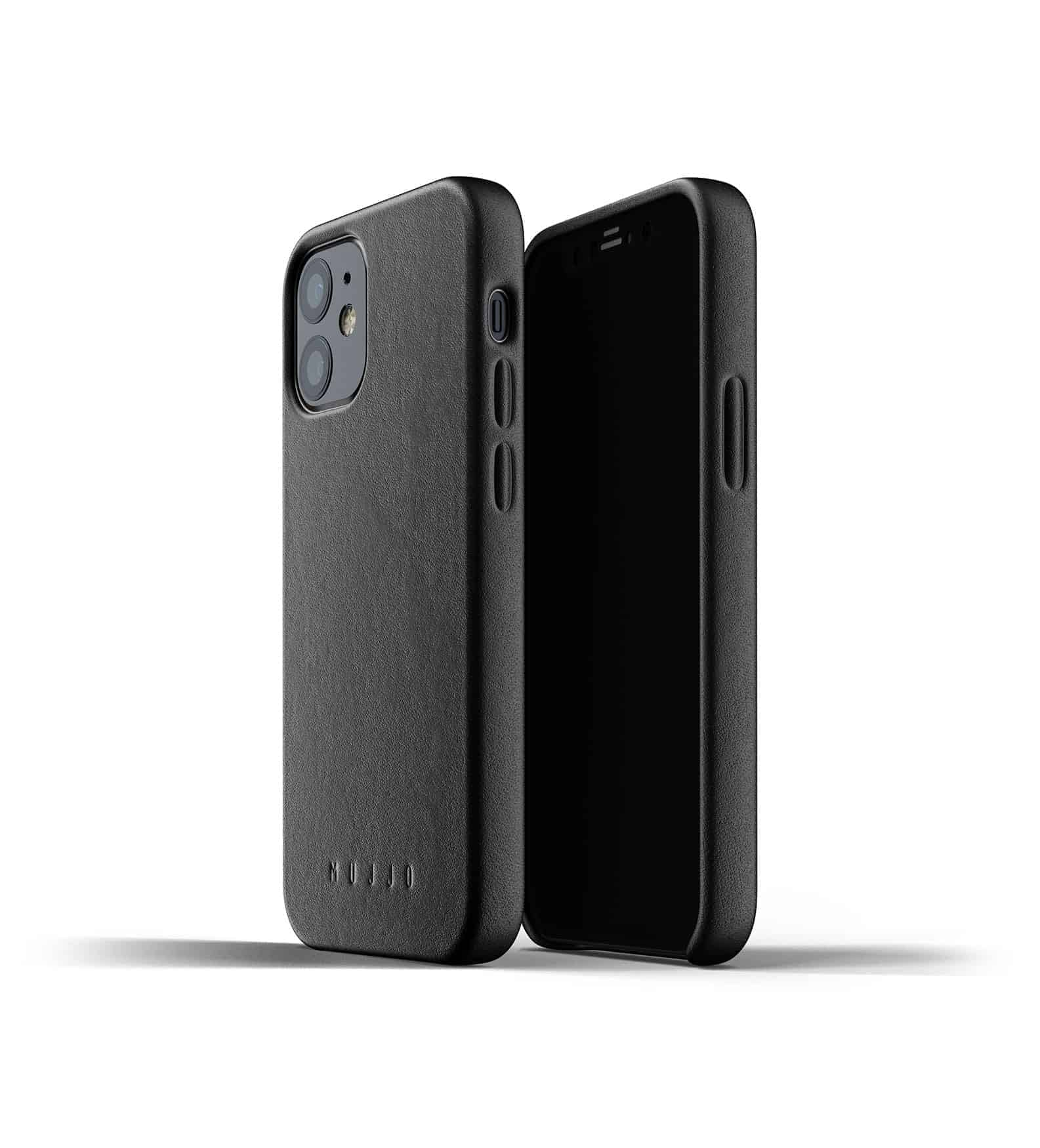 Full Leather Case for iPhone 12 mini Black Thumbnail 01