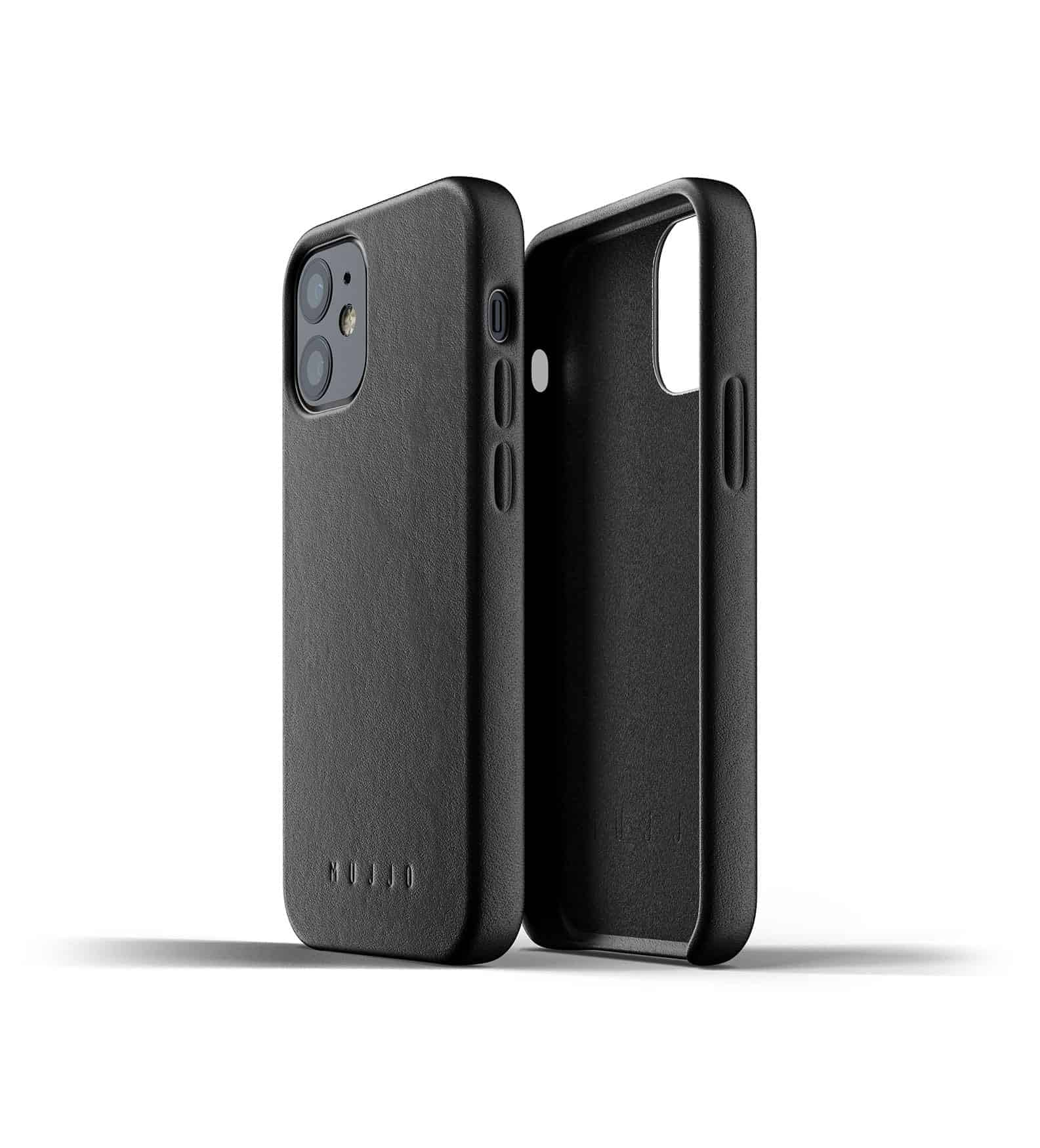 Full Leather Case for iPhone 12 mini Black Thumbnail 02