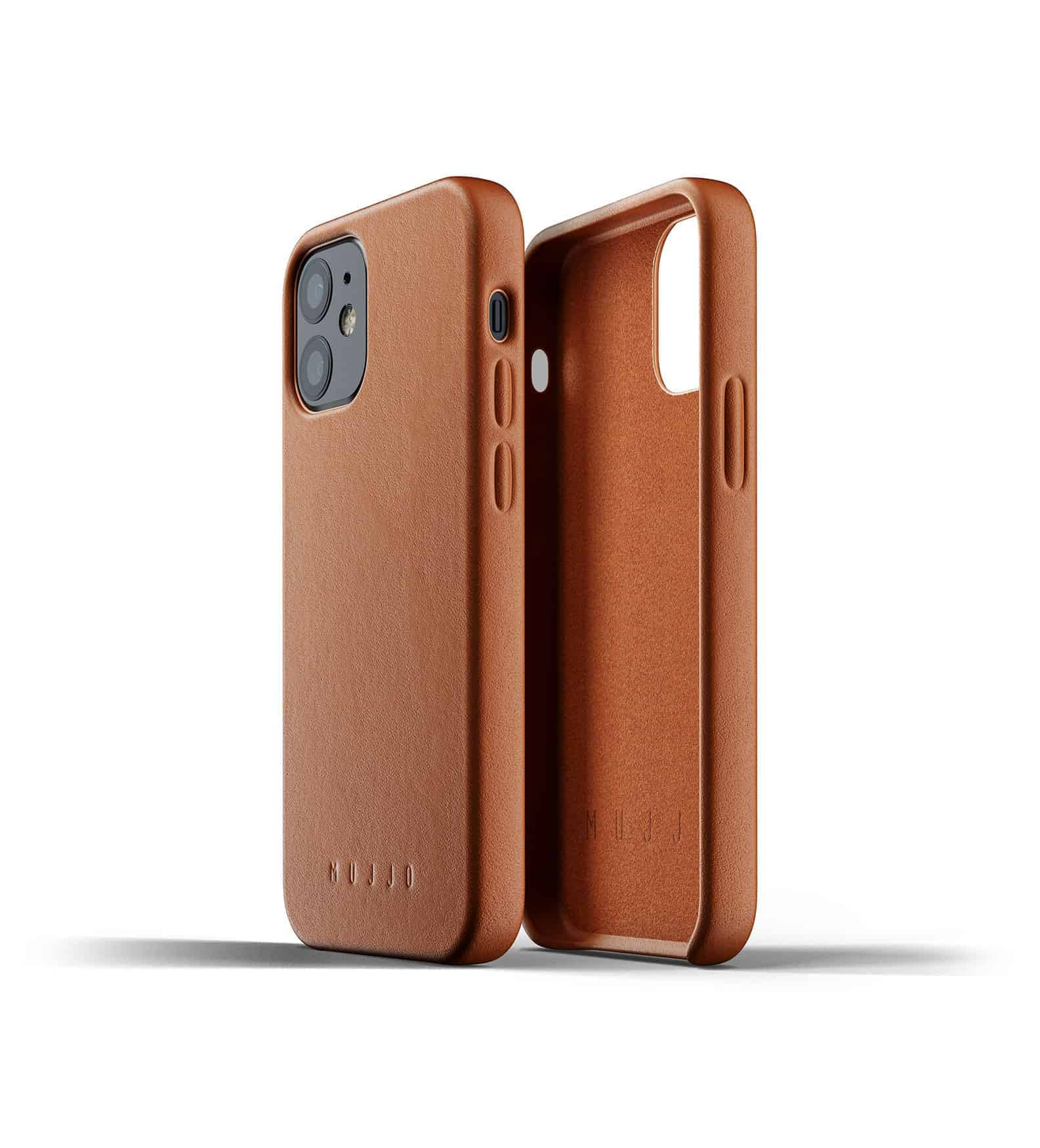Full Leather Case for iPhone 12 mini Tan Thumbnail 02