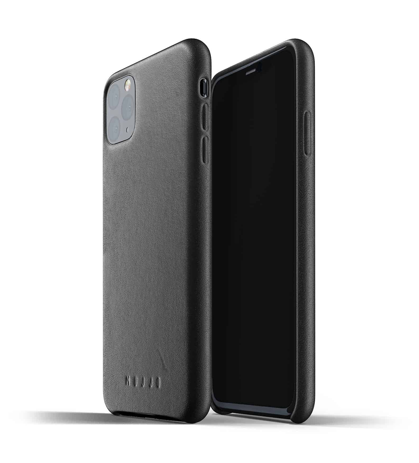Full leather case for iPhone 11 Pro Max Black Thumbnail 01
