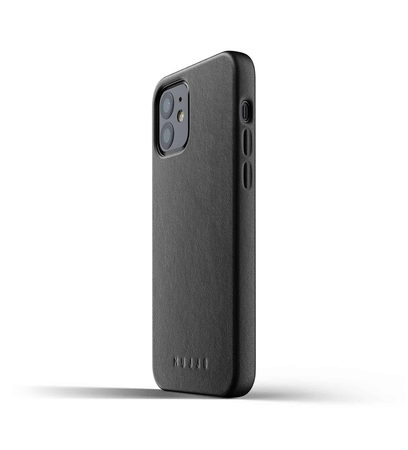 Full Leather Case for iPhone 12 Black Thumbnail 06