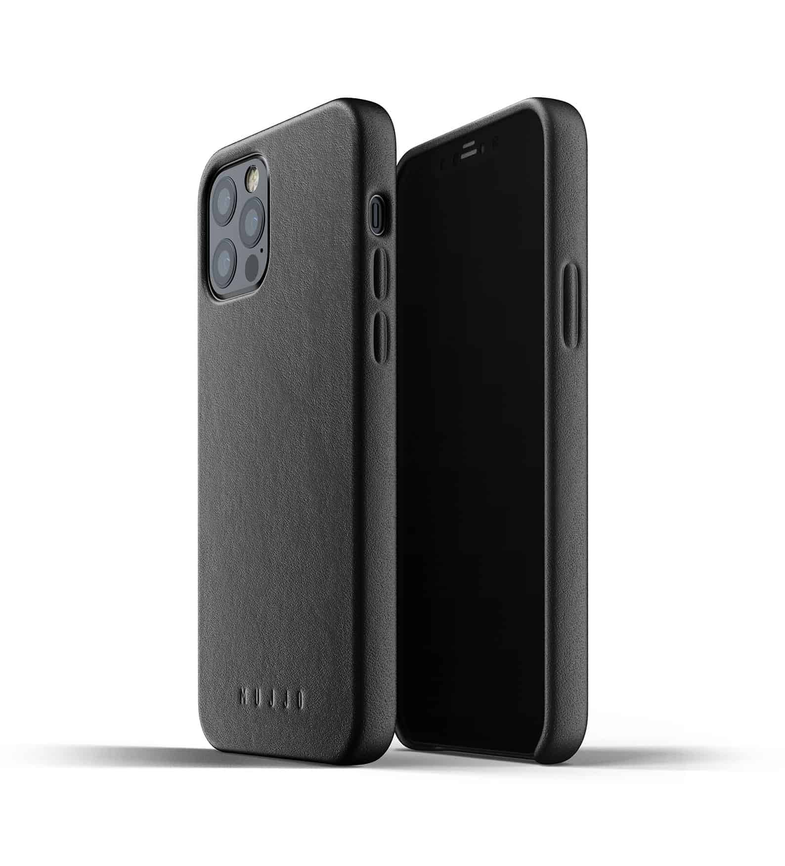 Full Leather Case for iPhone 12 Pro Black Thumbnail 01