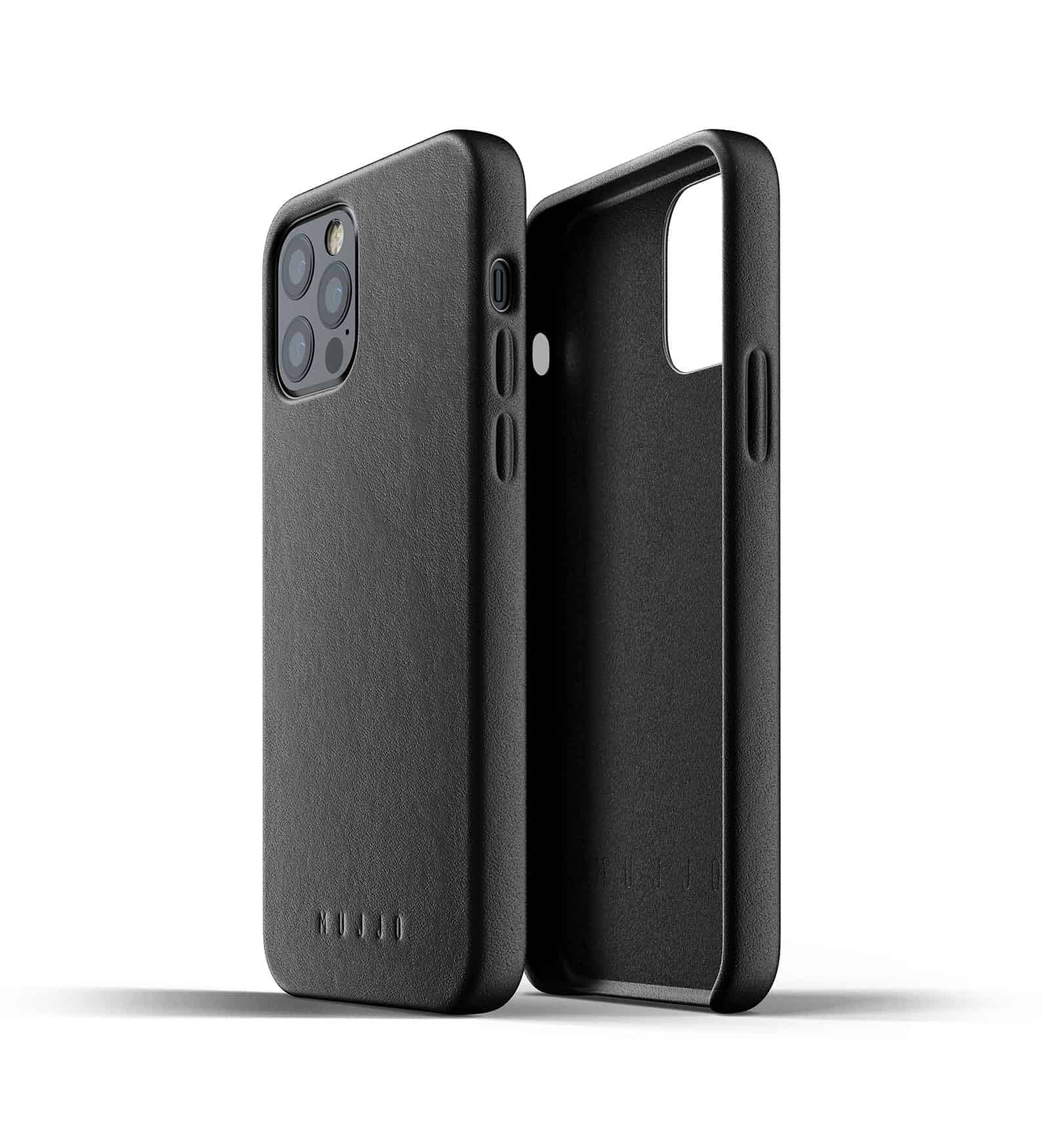Full Leather Case for iPhone 12 Pro Black Thumbnail 02