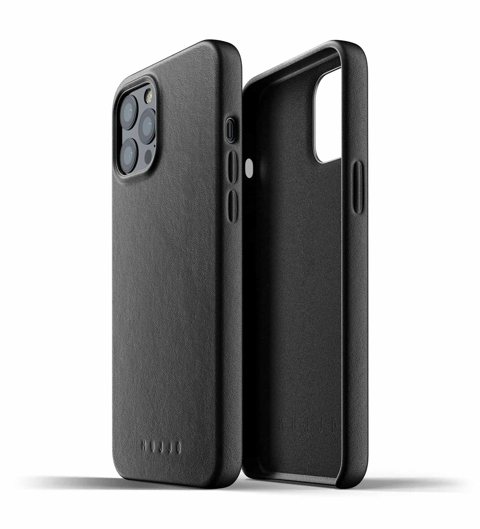 Full Leather Case for iPhone 12 Pro Max Black Thumbnail 02