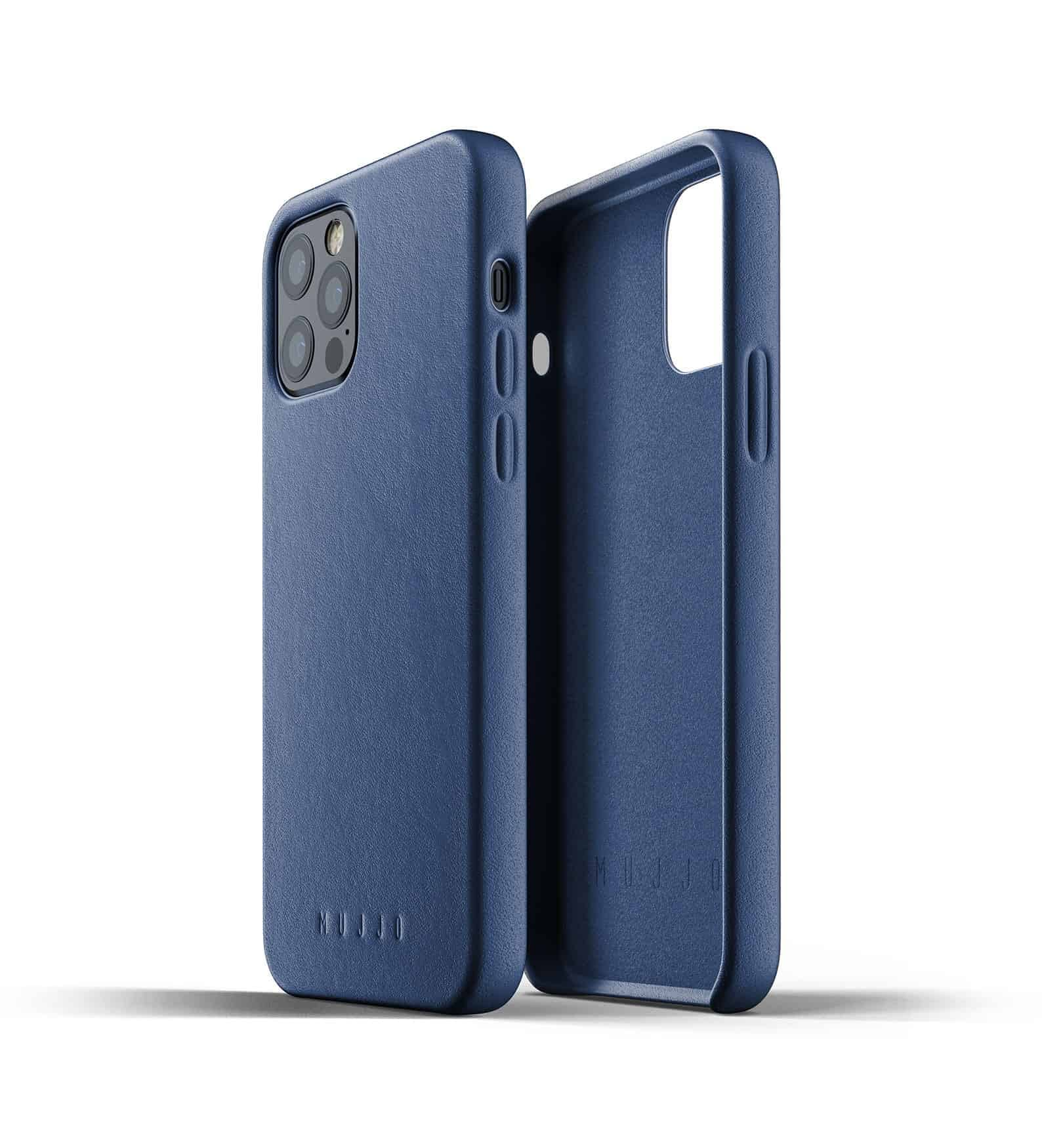 Full Leather Case for iPhone 12 Pro Monaco Blue Thumbnail 02