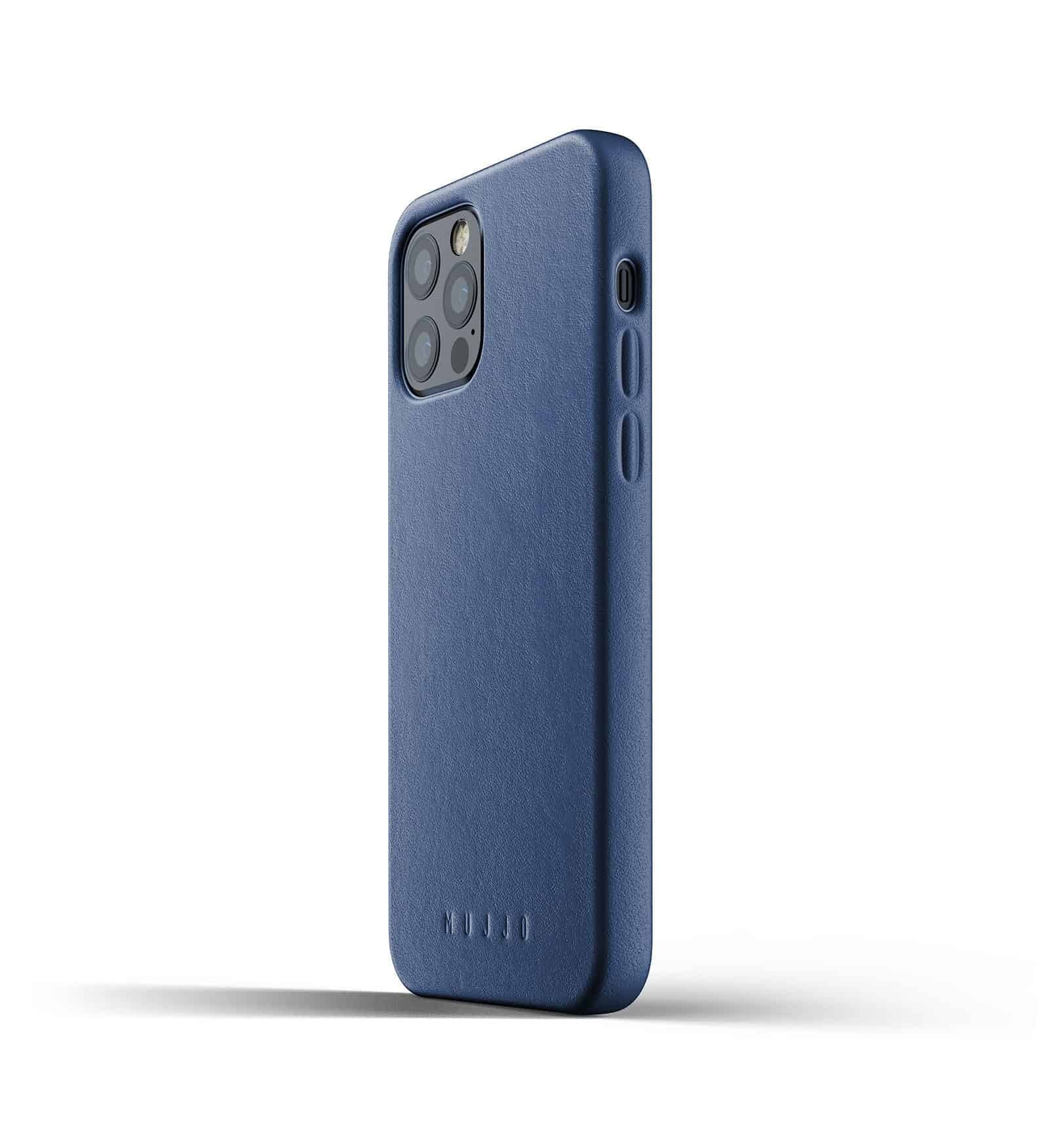 Full Leather Case for iPhone 12 Pro Monaco Blue Thumbnail 05