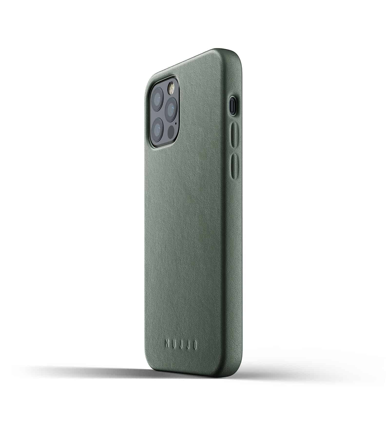 Full Leather Case for iPhone 12 Pro Slate Green Thumbnail 05