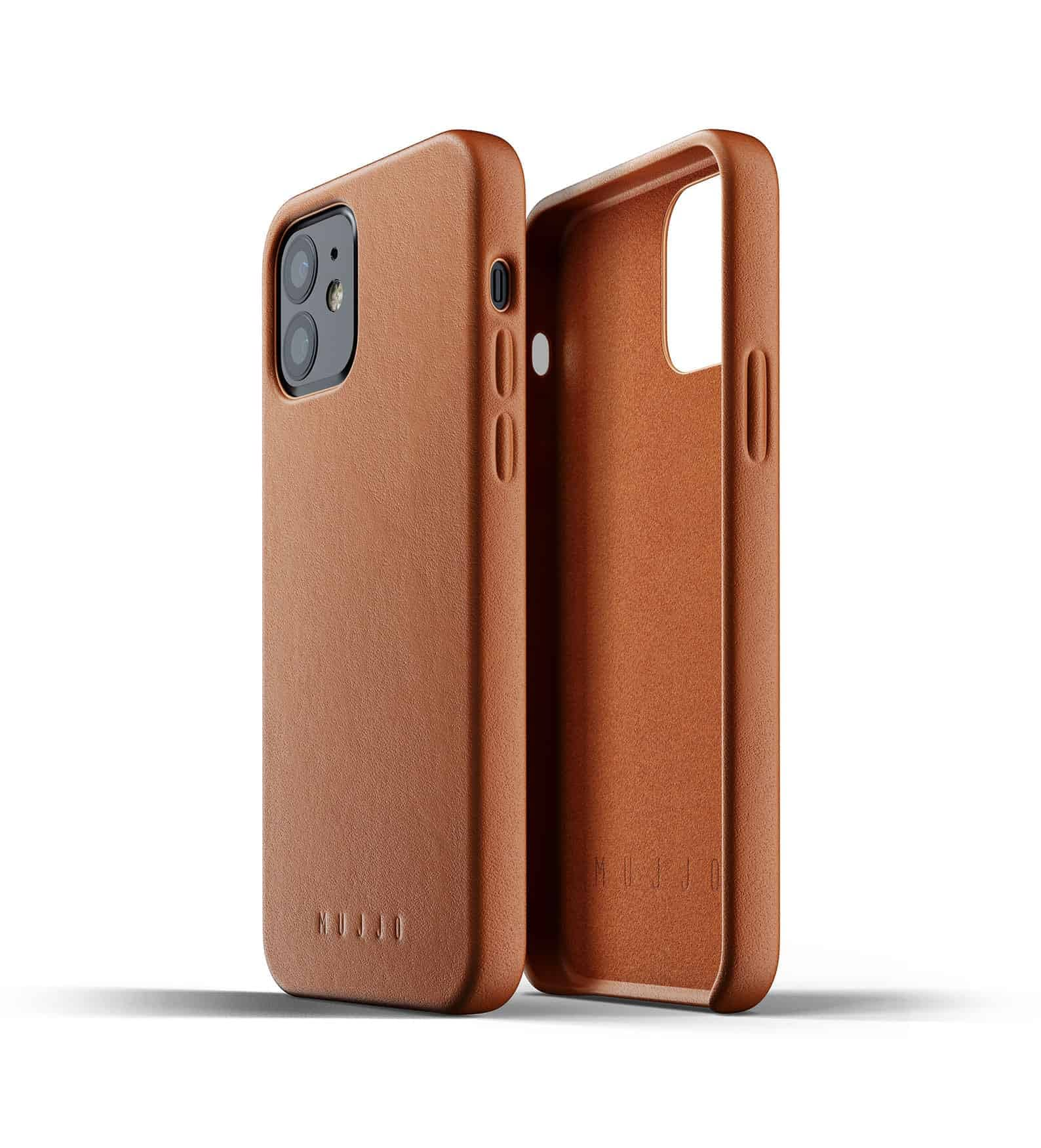 Full Leather Case for iPhone 12 Tan Thumbnail 04