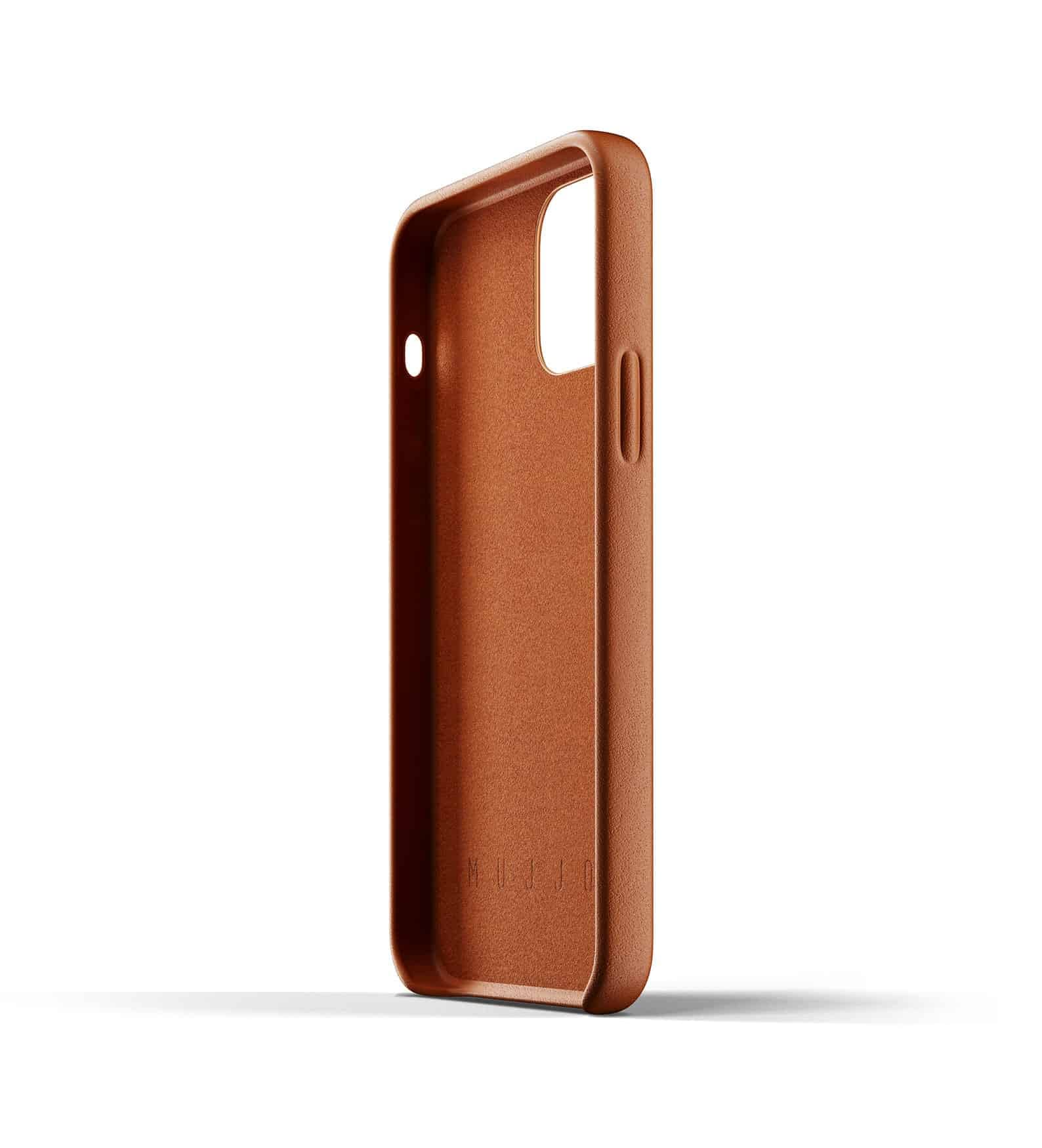 Full Leather Case for iPhone 12 Tan Thumbnail 08