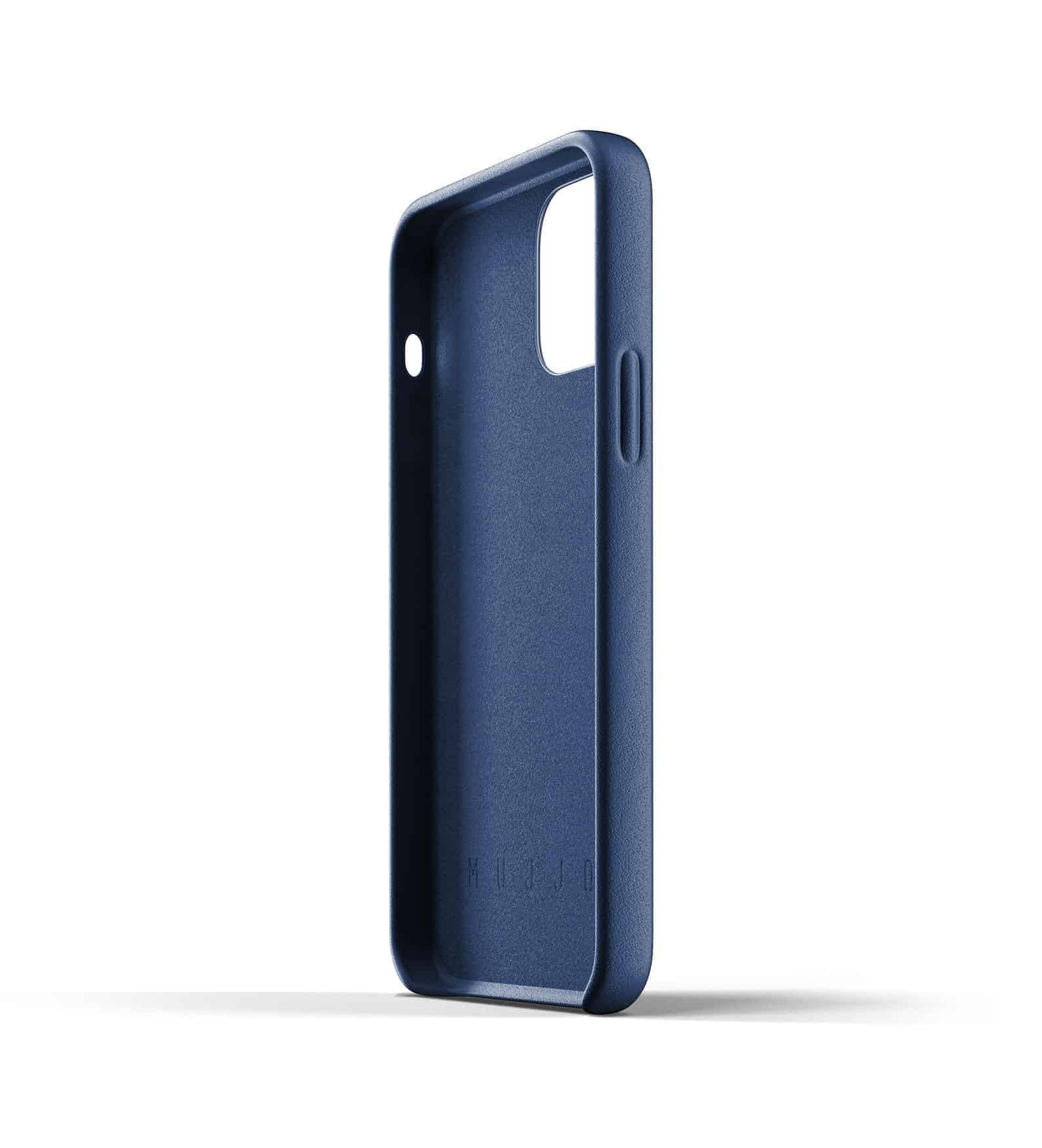 Full Leather Wallet Case for iPhone 12 Monaco Blue Thumbnail 08