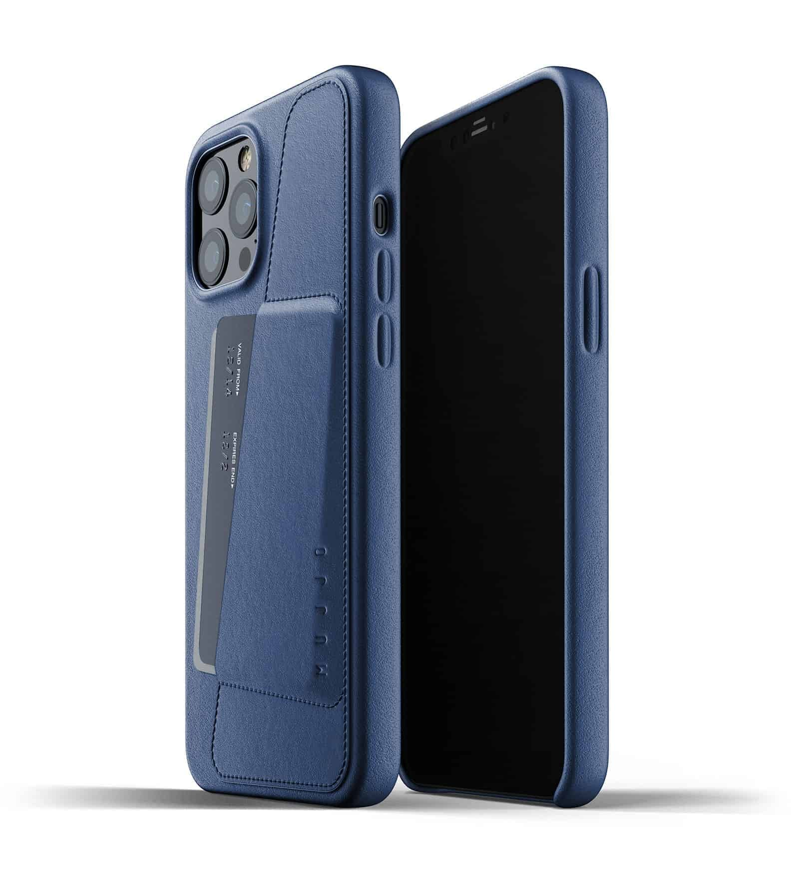 Full Leather Wallet Case for iPhone 12 Pro Max Monaco Blue Thumbnail 01