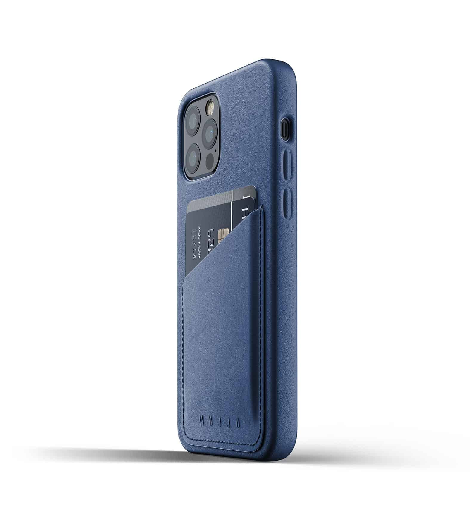 Full Leather Wallet Case for iPhone 12 Pro Monaco Blue Thumbnail 05