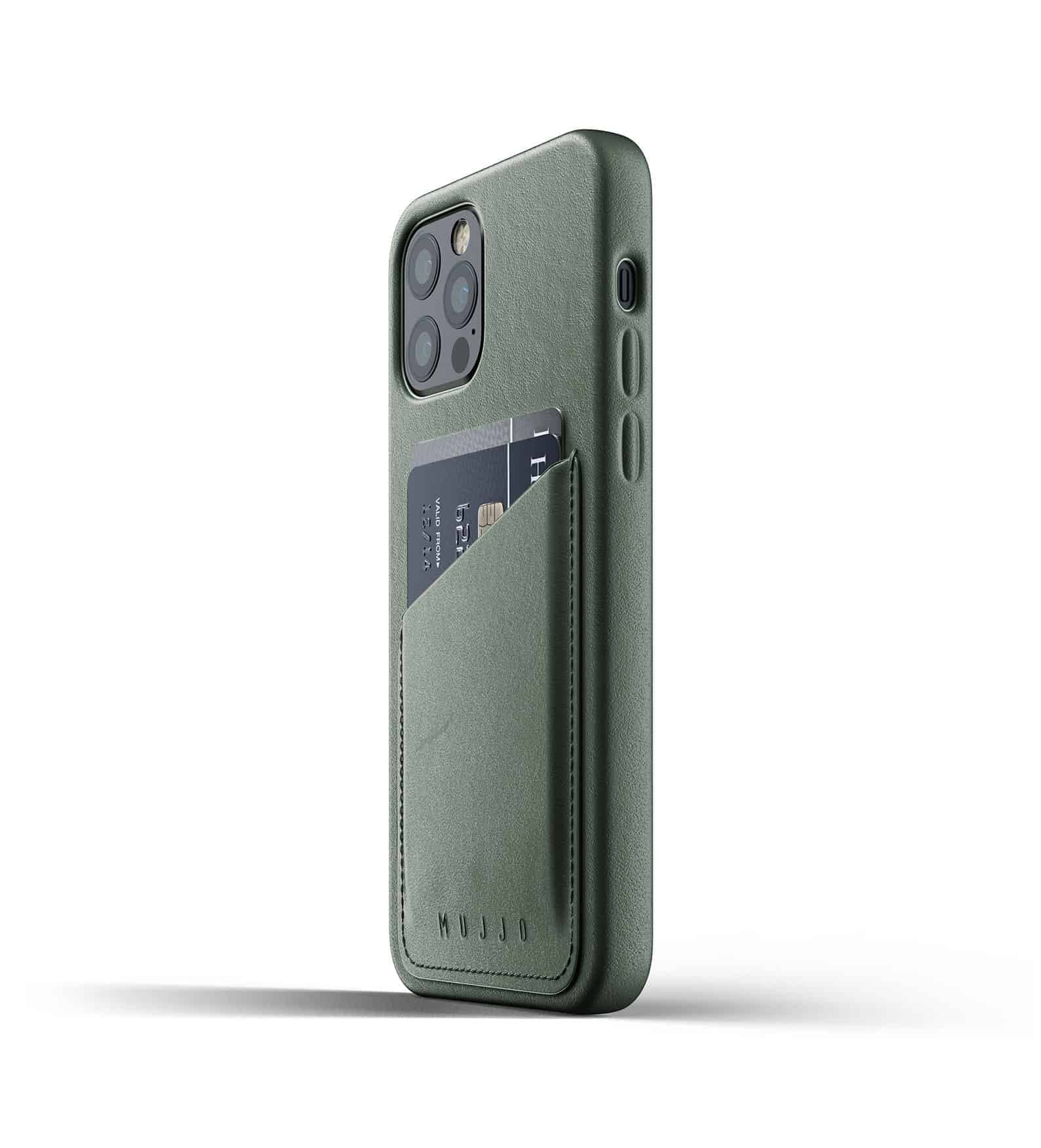 Full Leather Wallet Case for iPhone 12 Pro Slate Green Thumbnail 05