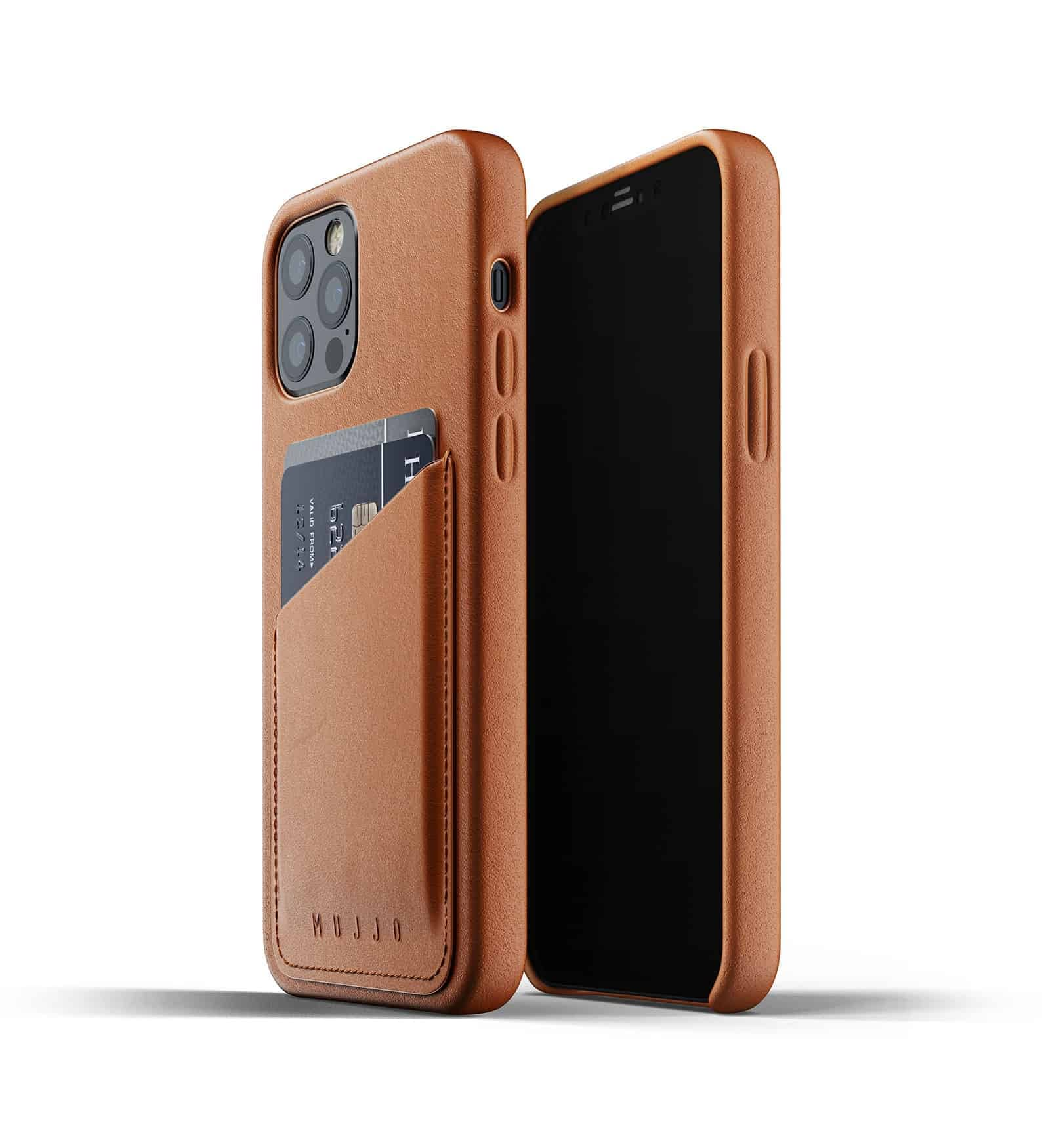 Full Leather Wallet Case for iPhone 12 Pro Tan Thumbnail 01