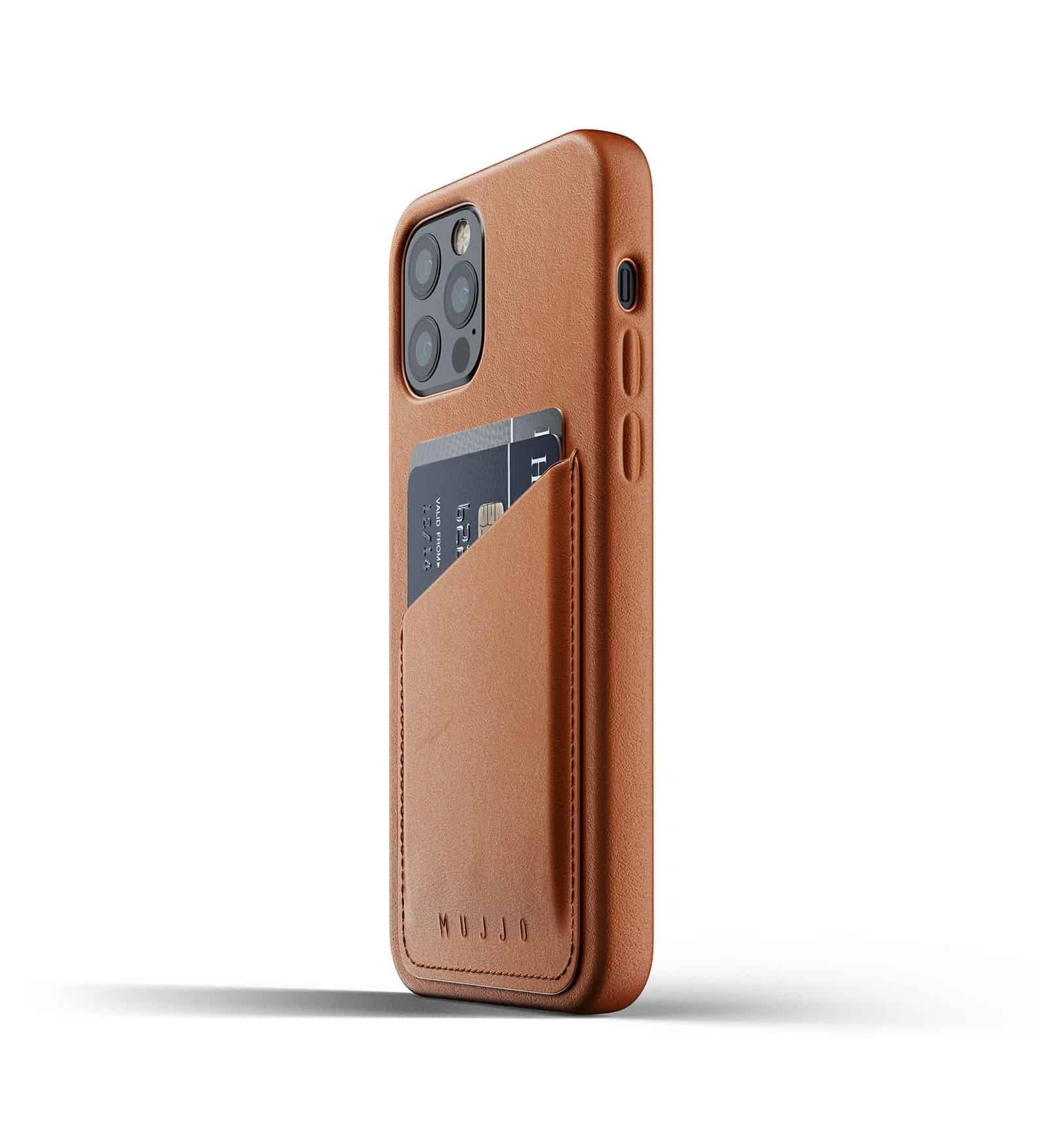 Full Leather Wallet Case for iPhone 12 Pro Tan Thumbnail 05