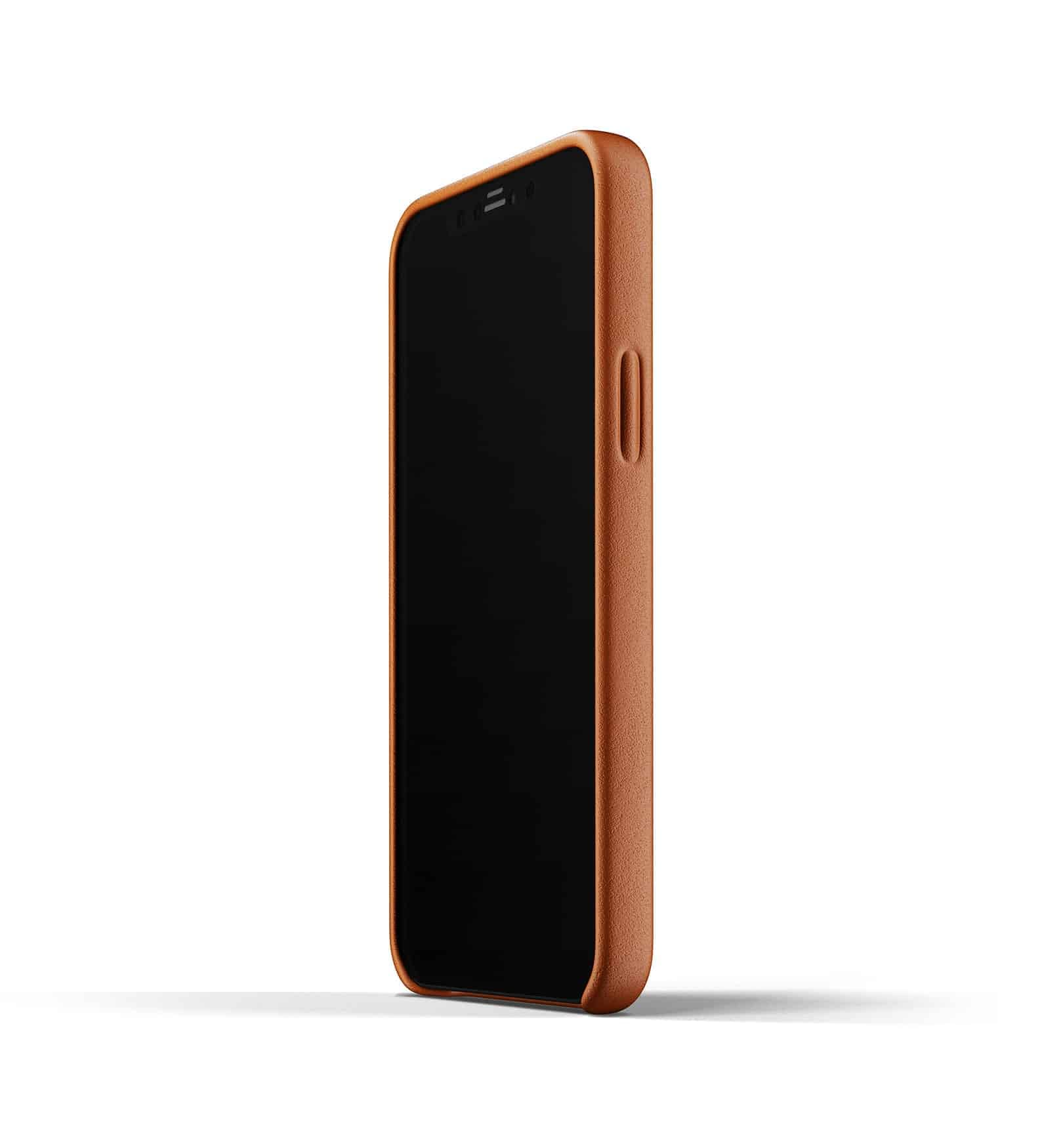 Full Leather Wallet Case for iPhone 12 Tan Thumbnail 07