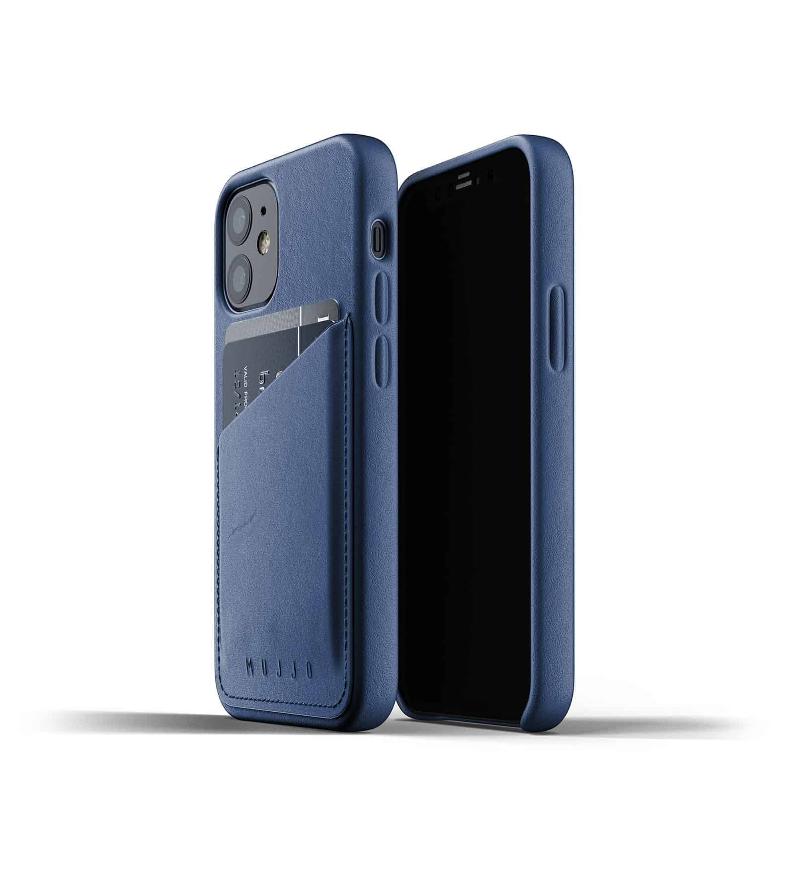 Full Leather Wallet Case for iPhone 12 mini Monaco Blue Thumbnail 01