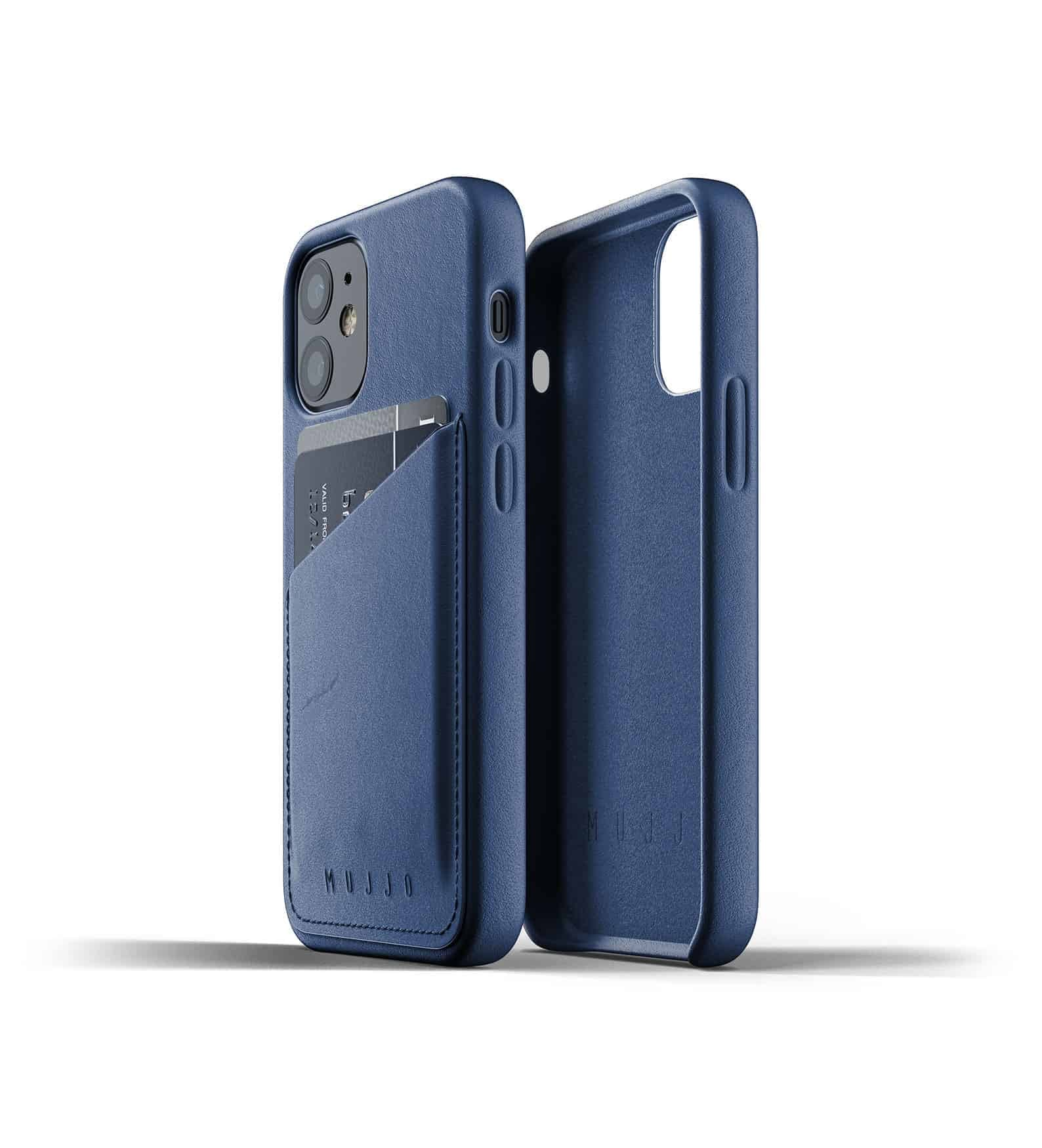 Full Leather Wallet Case for iPhone 12 mini Monaco Blue Thumbnail 02