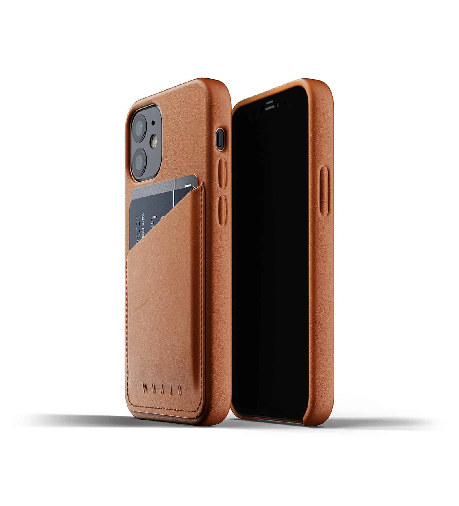 Full Leather Wallet Case for iPhone 12 mini Tan Thumbnail 01