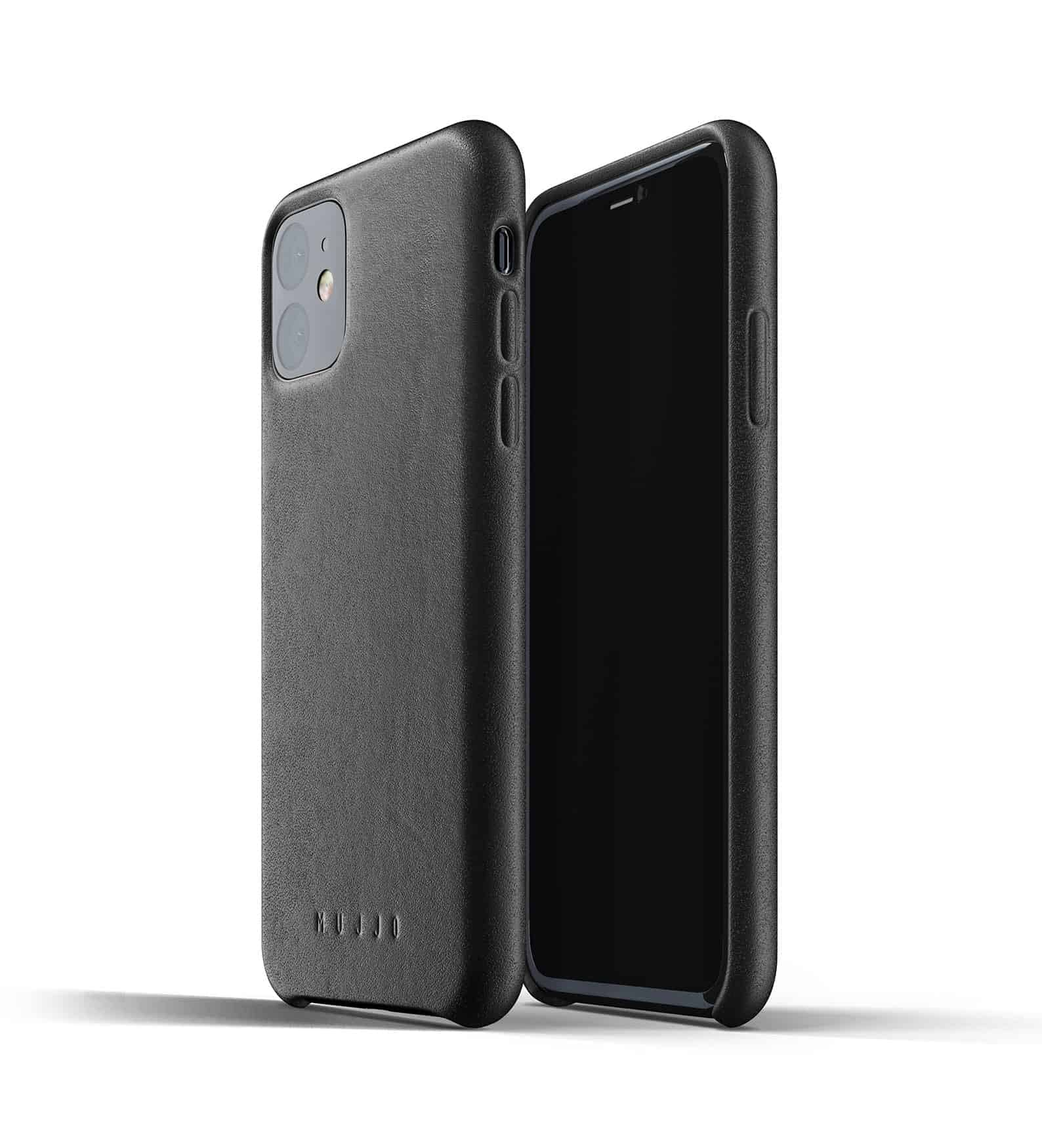 Full leather case for iPhone 11 Black Thumbnail 01