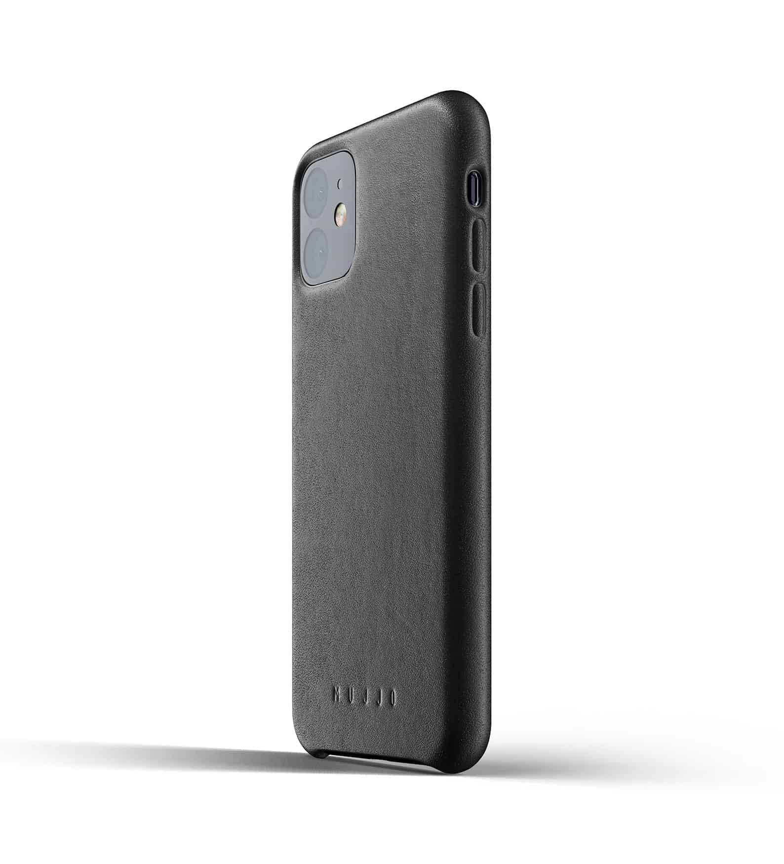 Full leather case for iPhone 11 Black Thumbnail 03