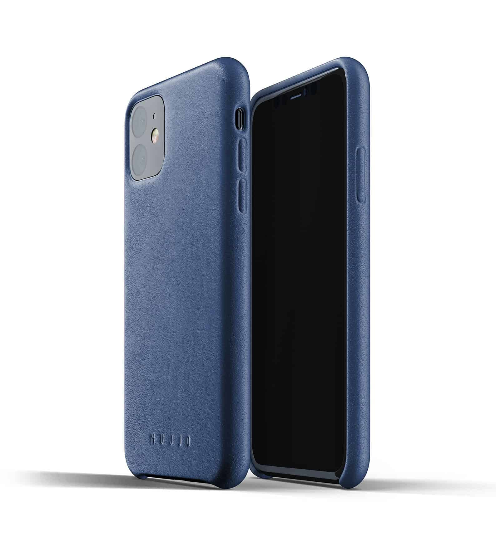 Full leather case for iPhone 11 Blue Thumbnail 01