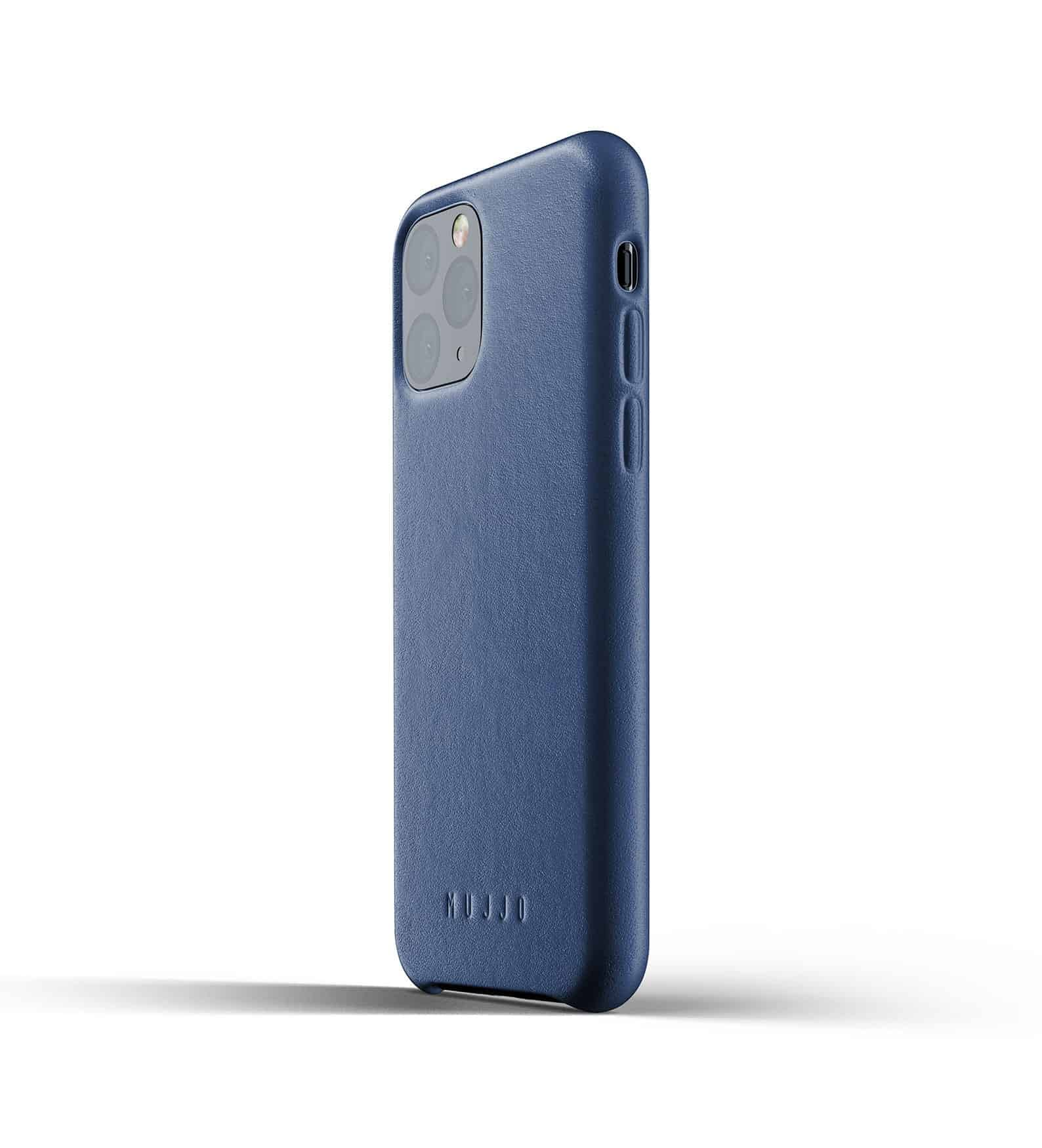 Full leather case for iPhone 11 Pro Blue Thumbnail 03
