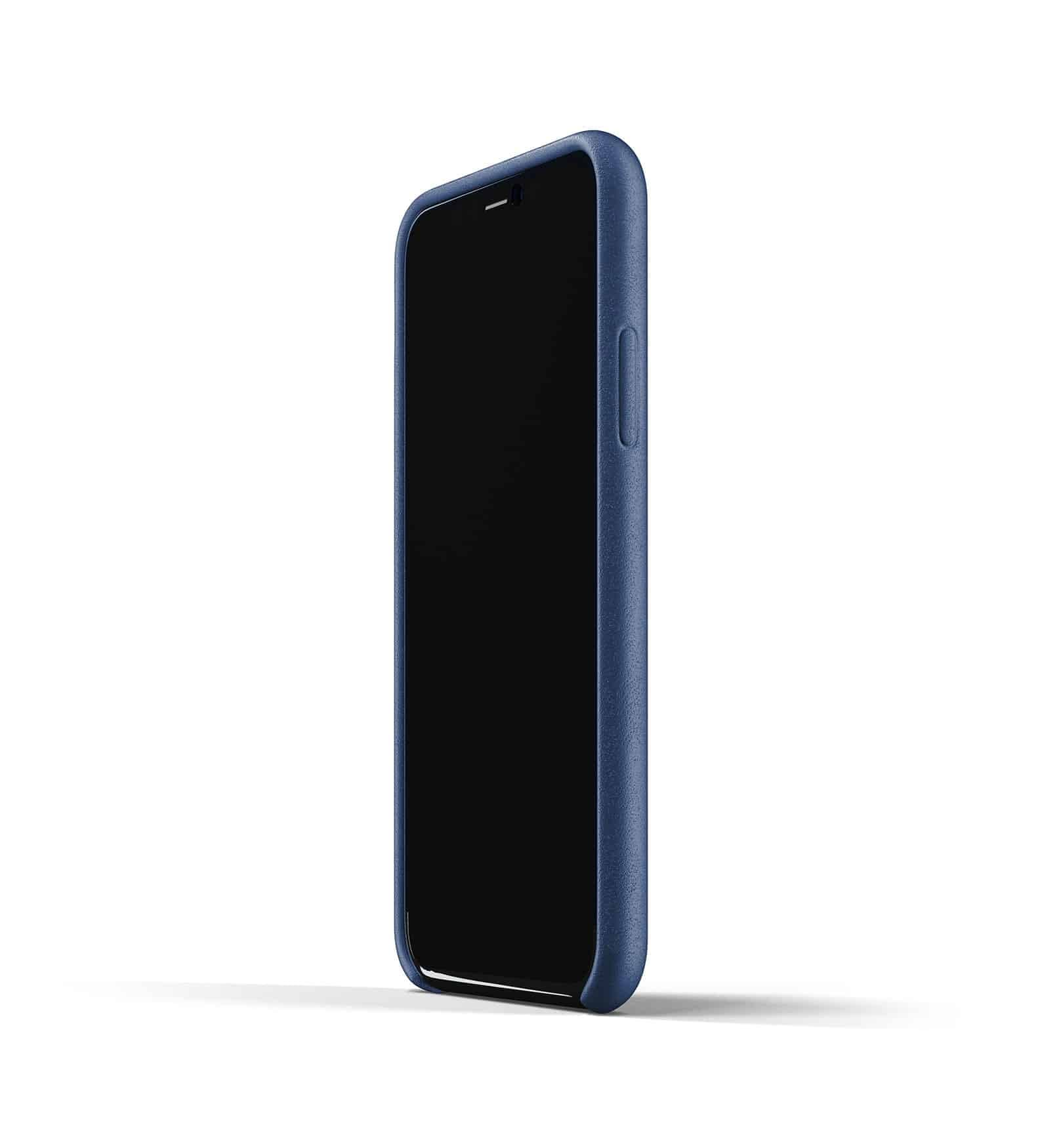 Full leather case for iPhone 11 Pro Blue Thumbnail 04