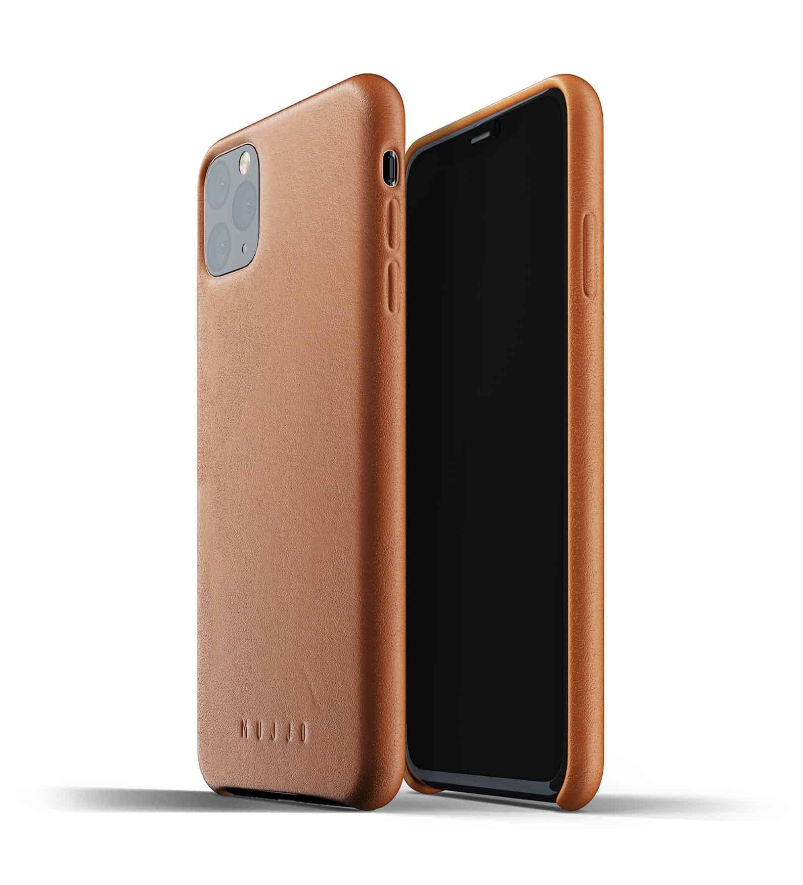 Full leather case for iPhone 11 Pro Max Tan Thumbnail 01