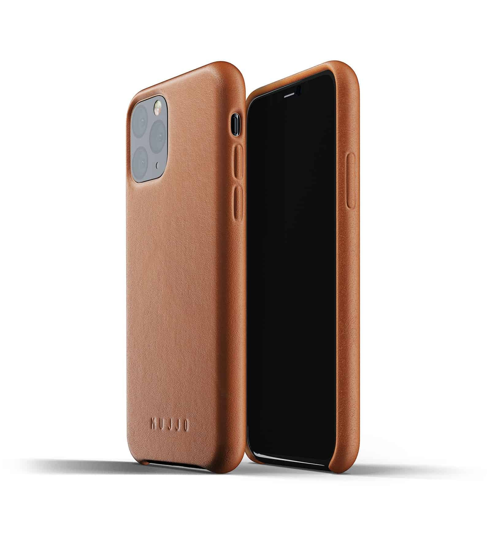 Full leather case for iPhone 11 Pro Tan Thumbnail 01