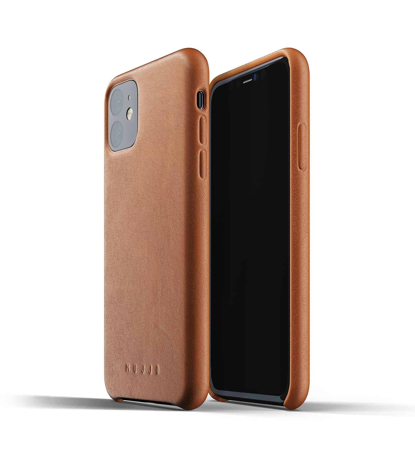 Full leather case for iPhone 11 Tan Thumbnail 01