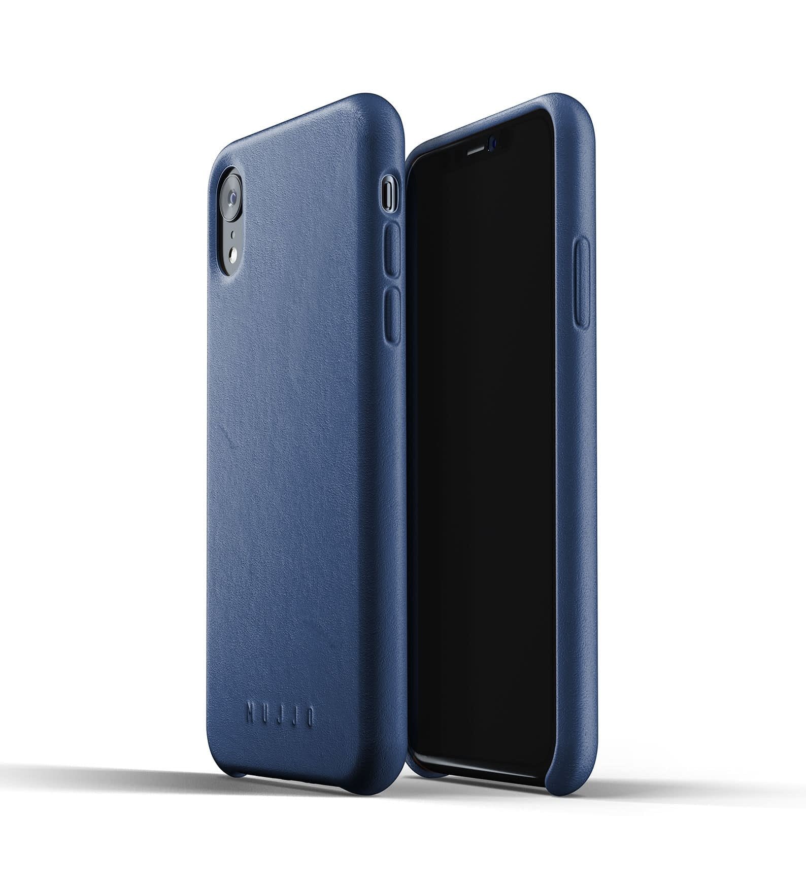 Full leather case for iPhone Xr Blue Thumbnail 03